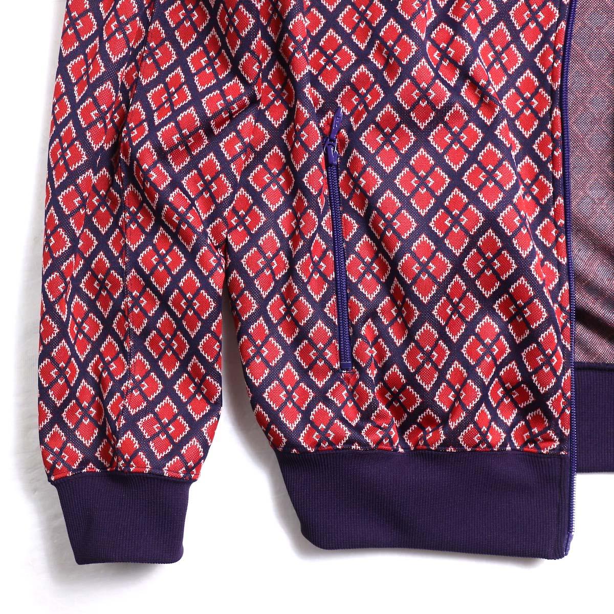 Needles / Rib Collar Track Jacket -Poly Jacquard (Diamond)裾