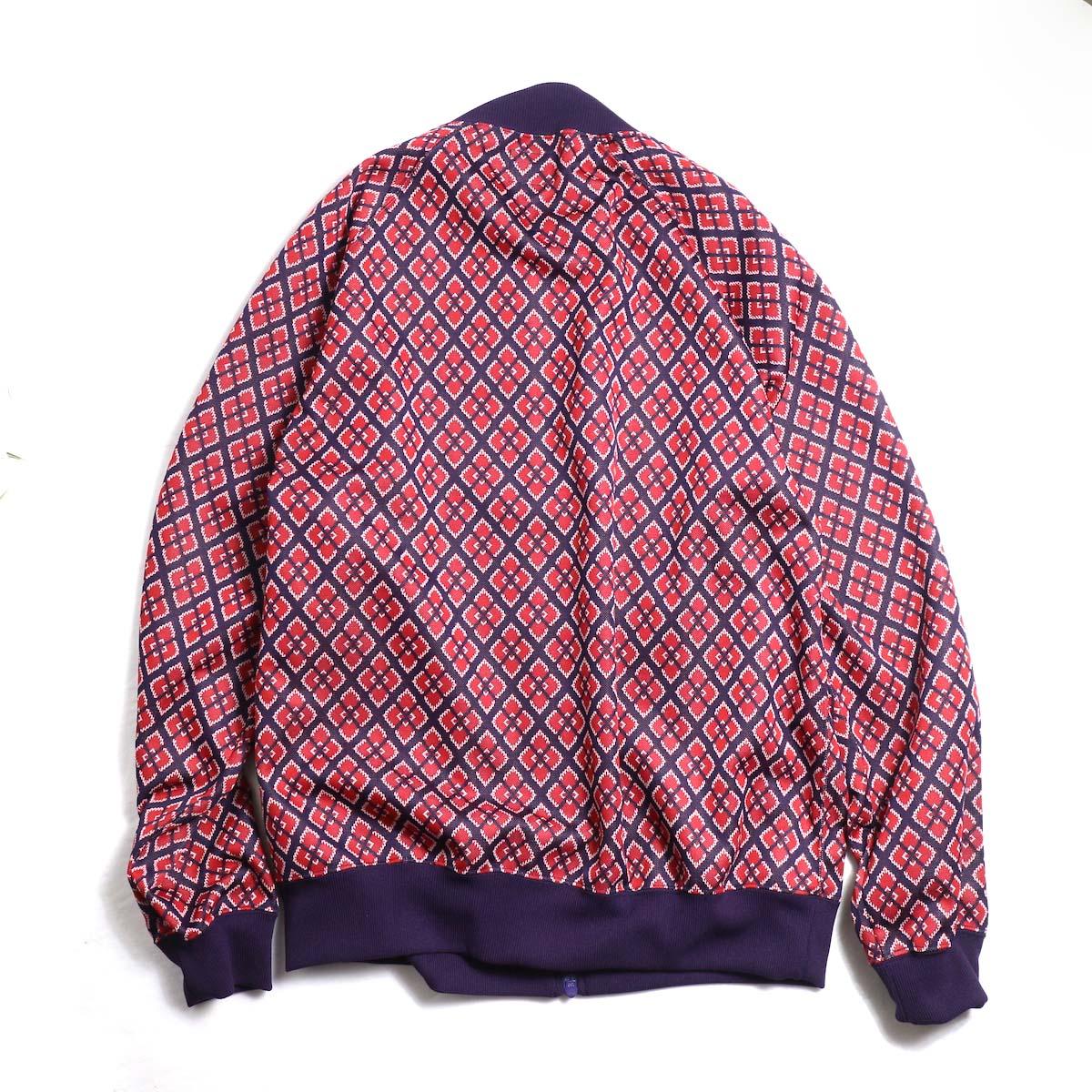 Needles / Rib Collar Track Jacket -Poly Jacquard (Diamond)背面
