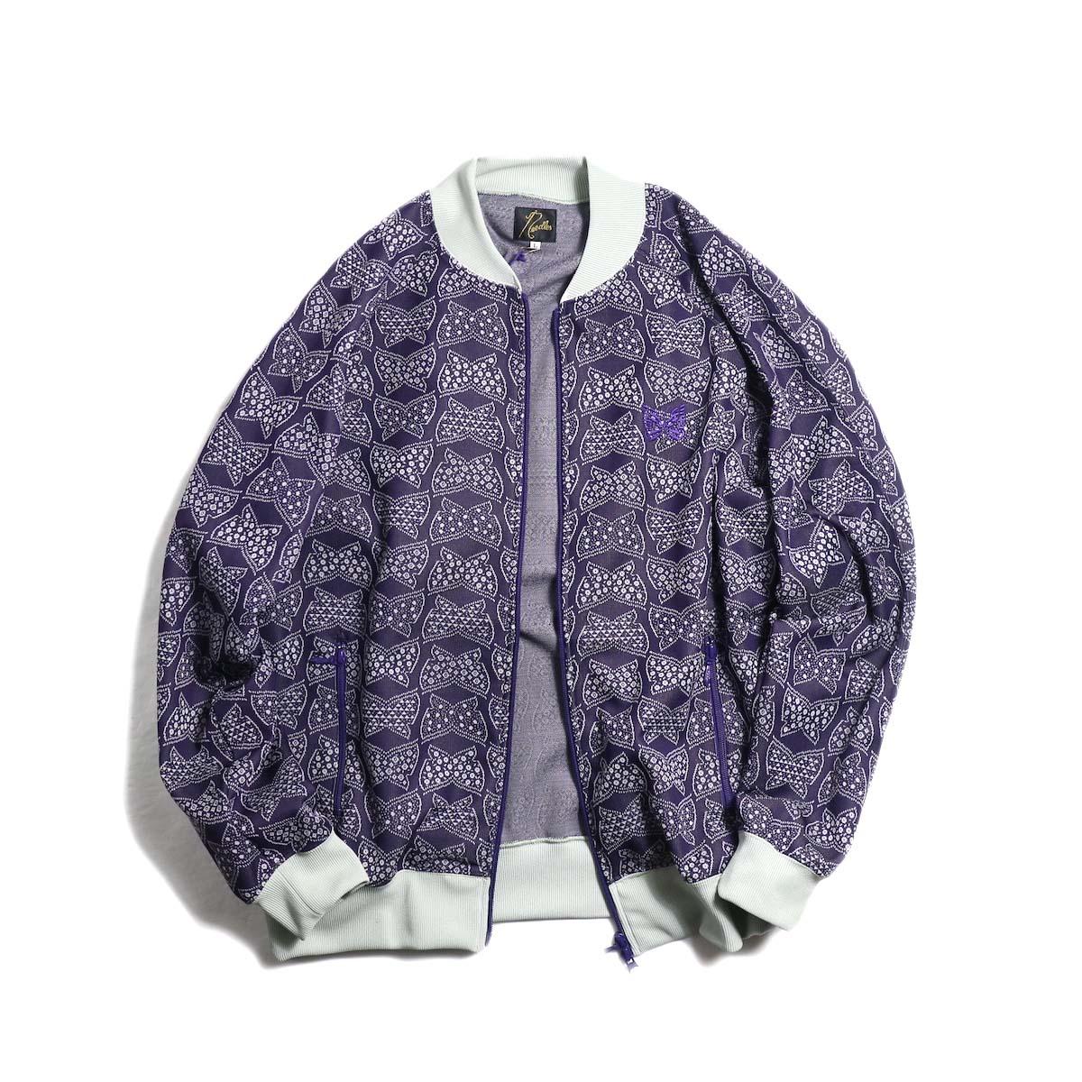 Needles / Rib Collar Track Jacket -Poly Jacquard (Papillon)