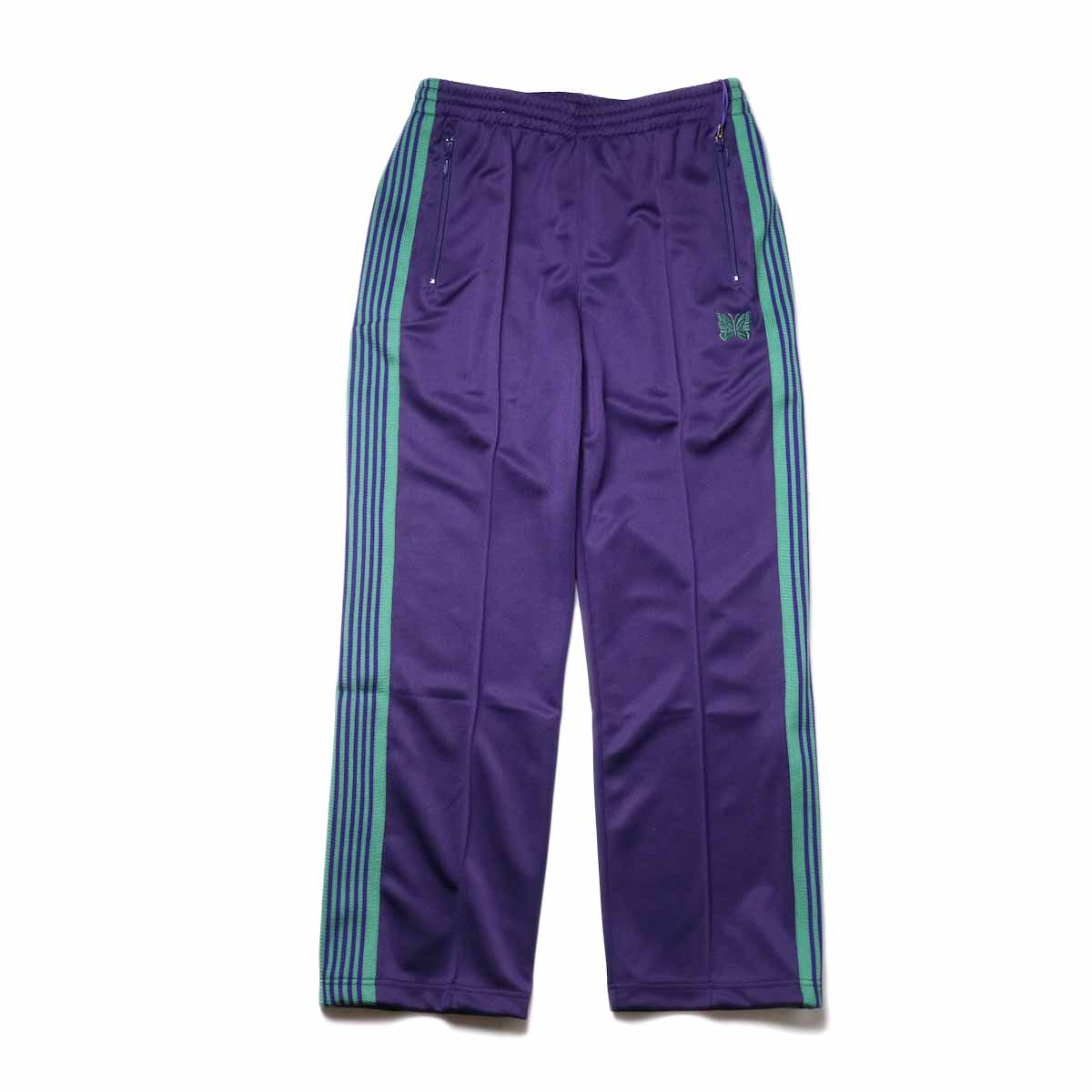 Needles / Track Pant -Poly Smooth (Eggplant)正面