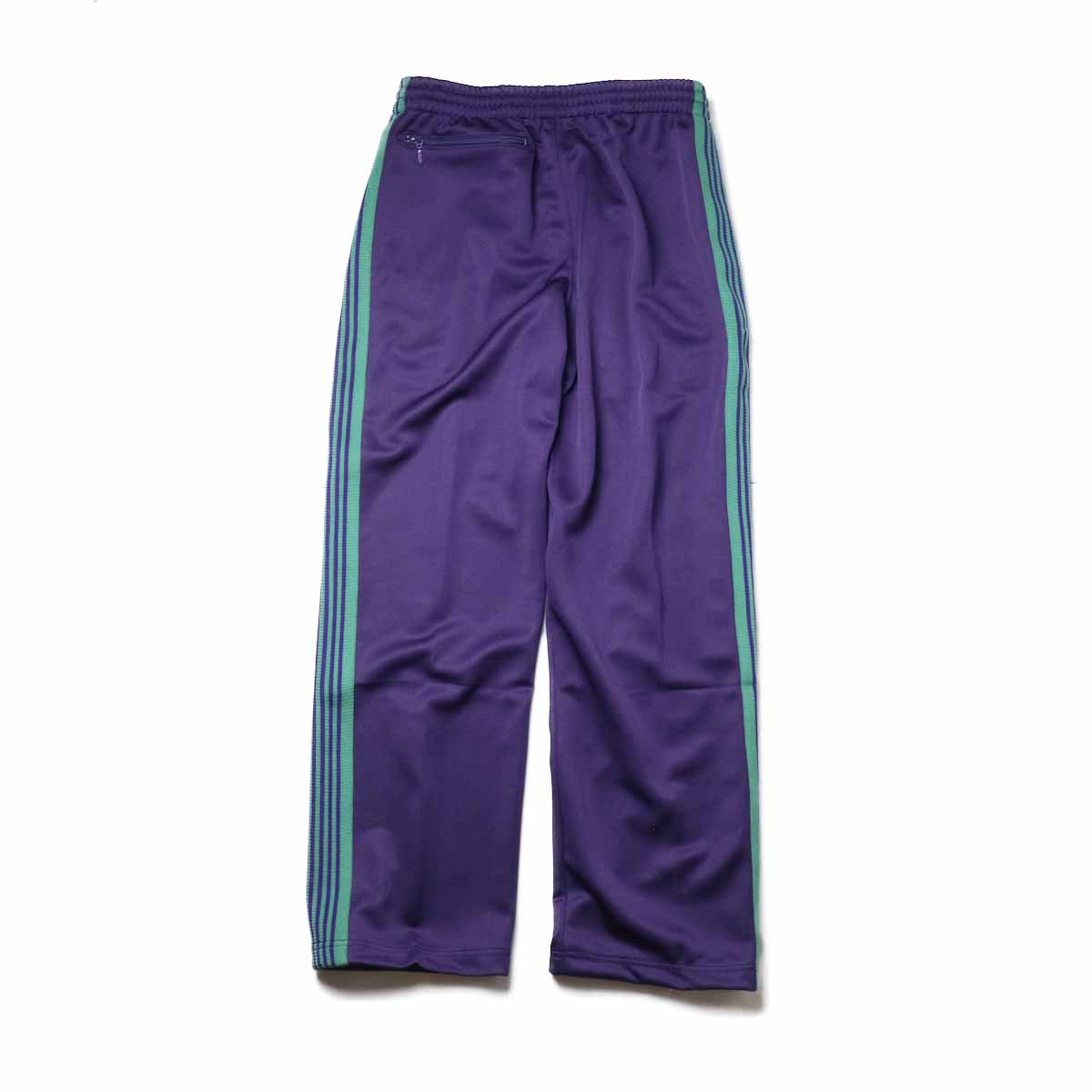 Needles / Track Pant -Poly Smooth (Eggplant)背面