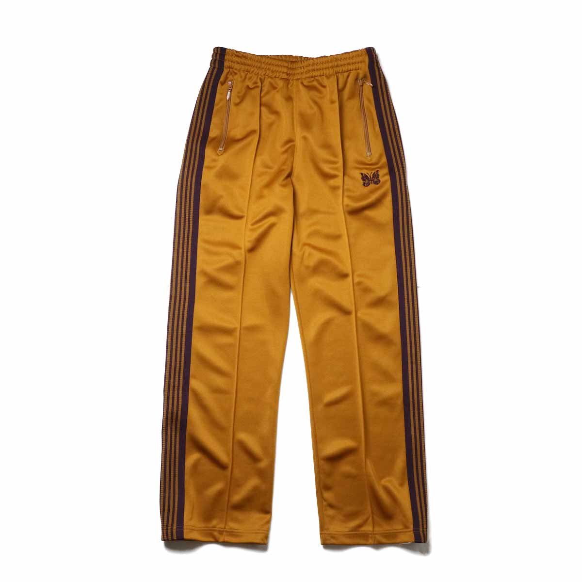 Needles / Track Pant -Poly Smooth (Mustard)正面