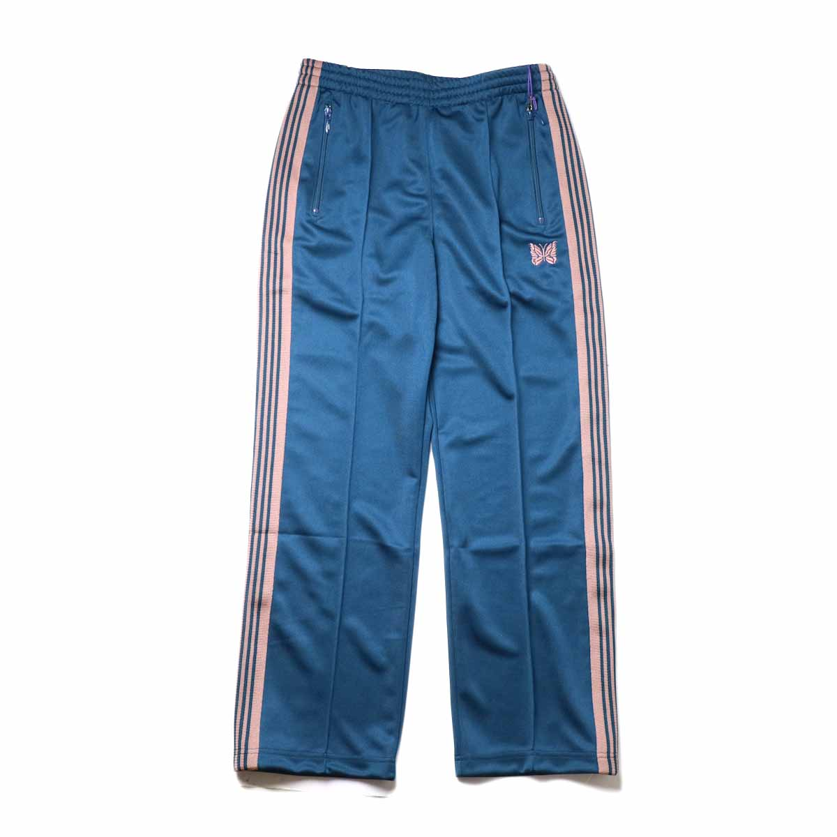 Needles / Track Pant -Poly Smooth (Teel Green)正面