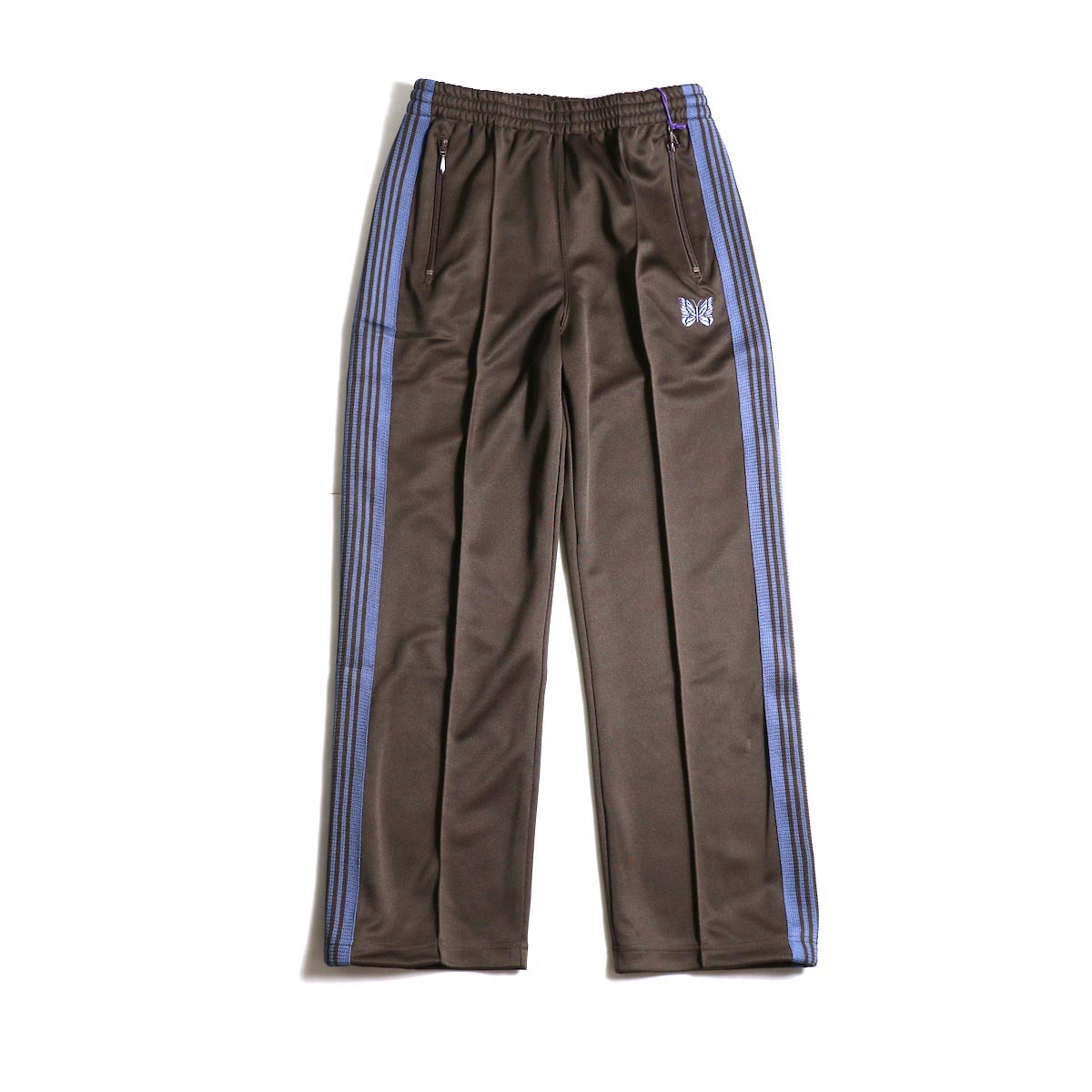 Needles / Track Pants -Poly Smooth (Brown)