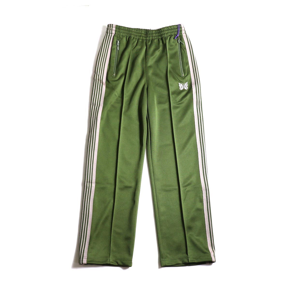 Needles / Track Pants -Poly Smooth (Olive)