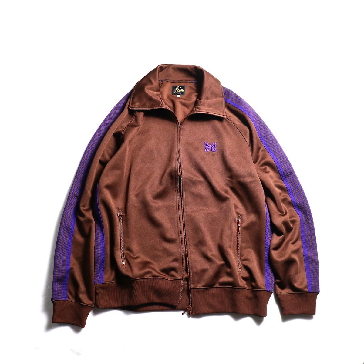 Needles / Track Jacket -Poly Smooth (Brown)