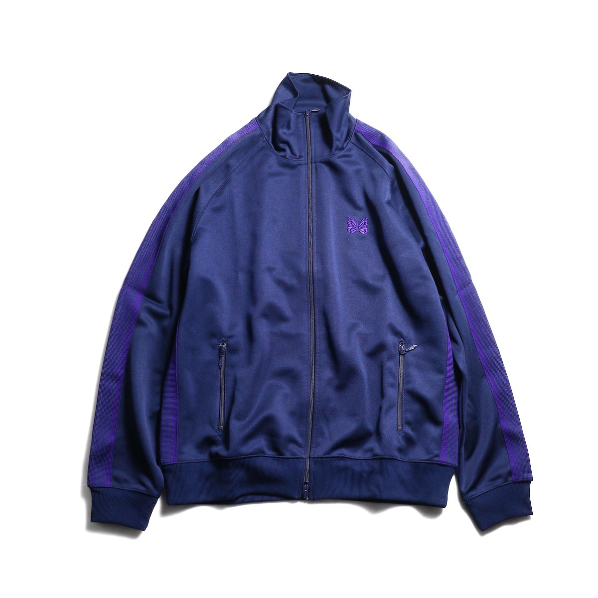 Needles / Track Jacket -Poly Smooth (Navy)