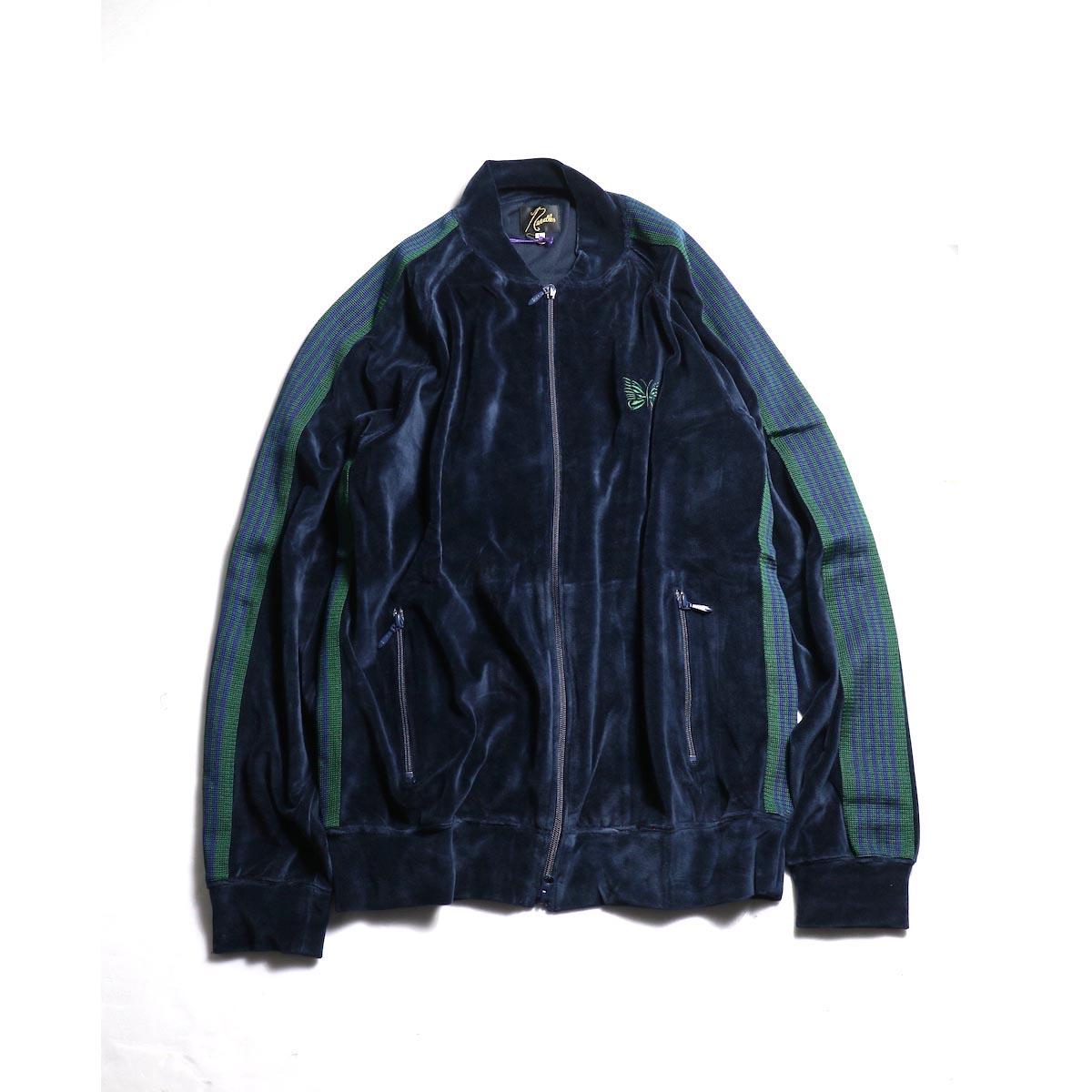 Needles / Rib Collar Track Jacket -C/Pe Velour (Navy)