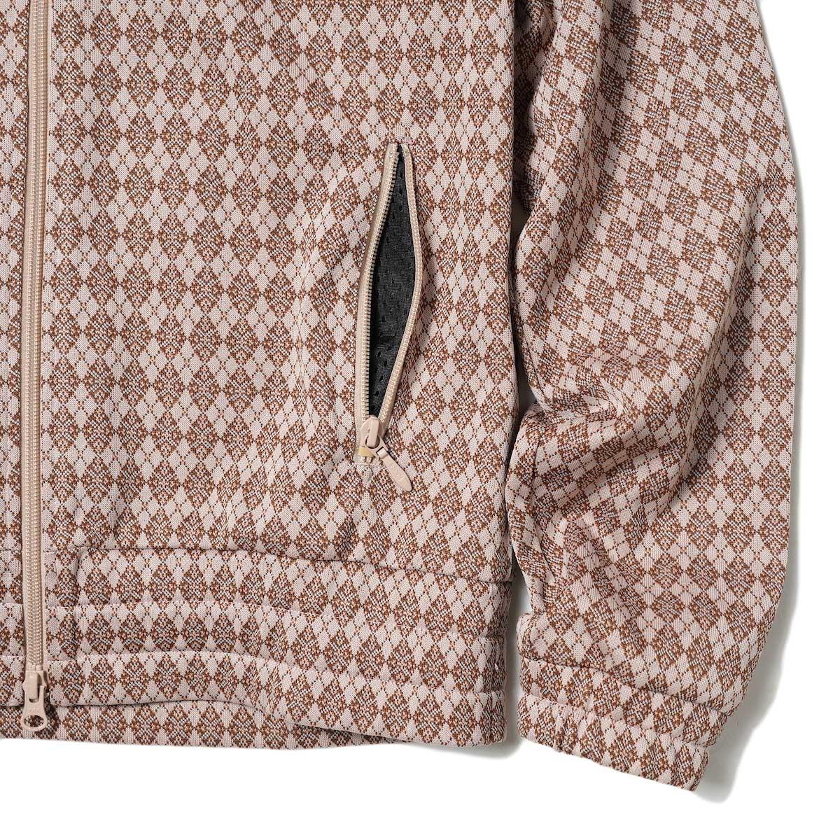 Needles / TRACK JACKET - POLY JQ (Argyle) 裾・袖