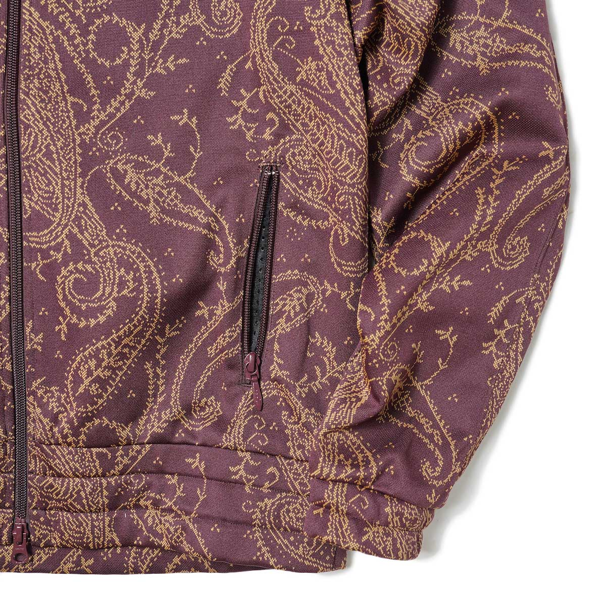 Needles / TRACK JACKET - POLY JQ (Paisley) 袖・裾