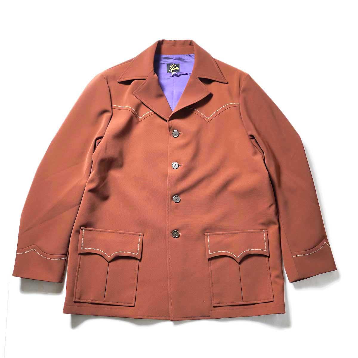 Needles / WESTERN LEISURE JACKET - PE/PU DOUBLE CLOTH (Brick)