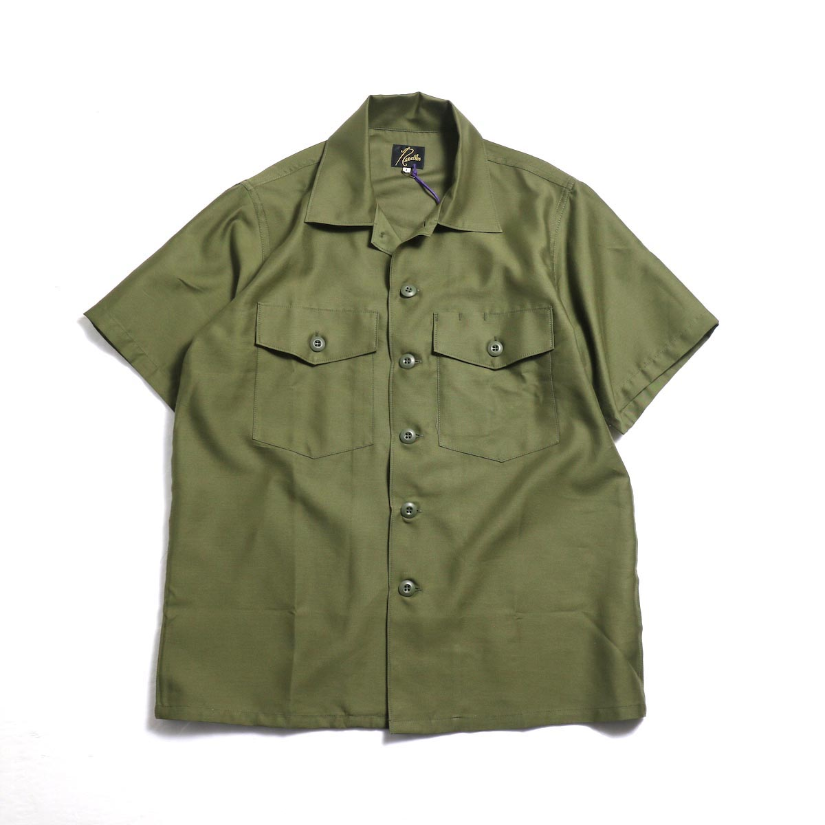 Needles Women / S/S Army Shirt -T/C Back Sateen