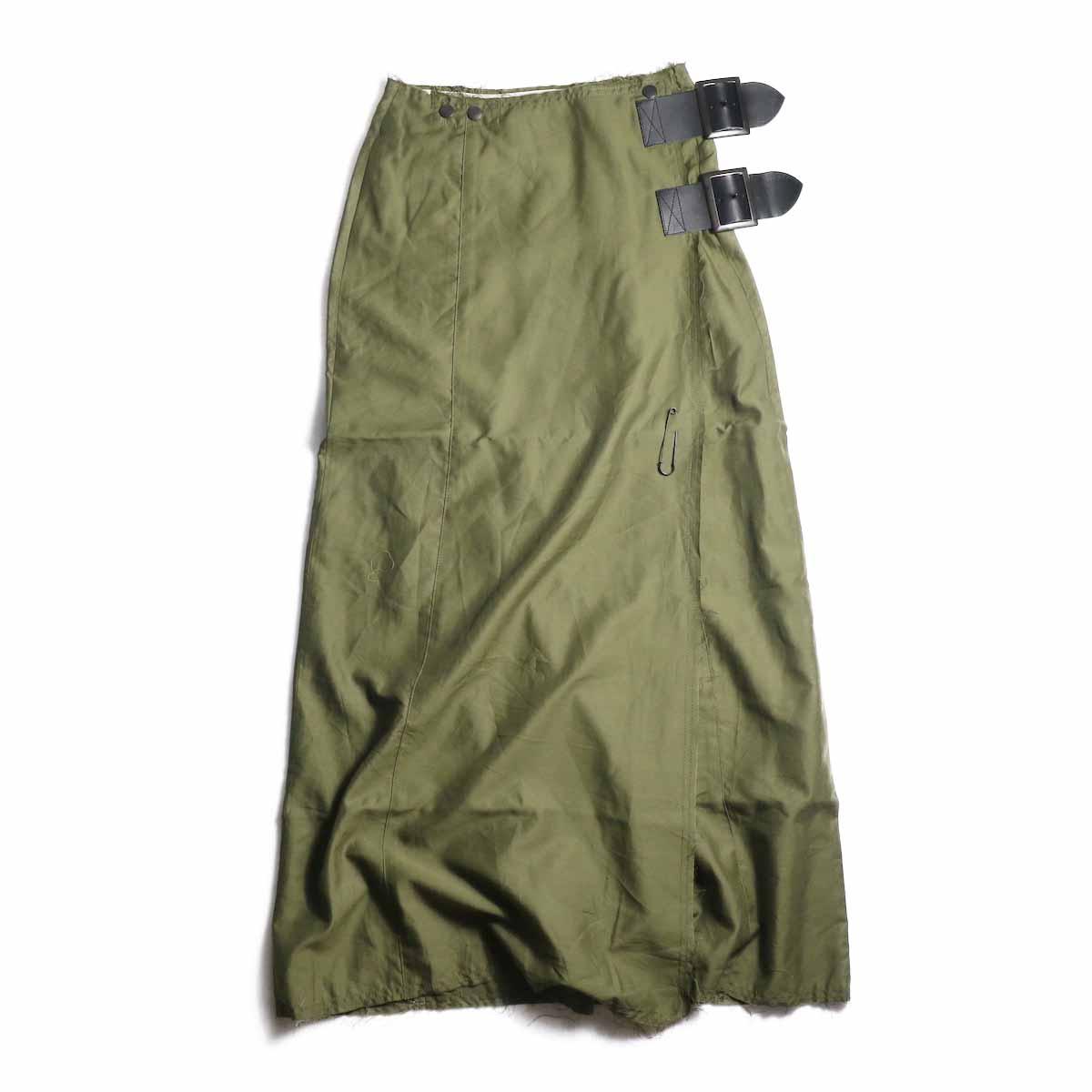 Needles / Wrap Skirt -t/r Back Sateen (Olive)