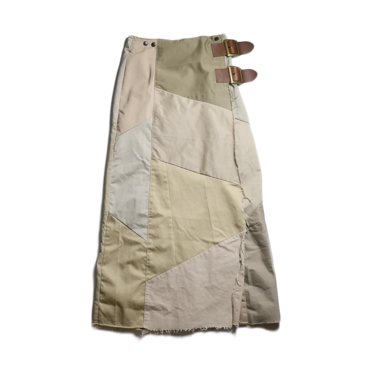 Rebuild by Needles / Chino Pant Wrap Skirt (Khaki)