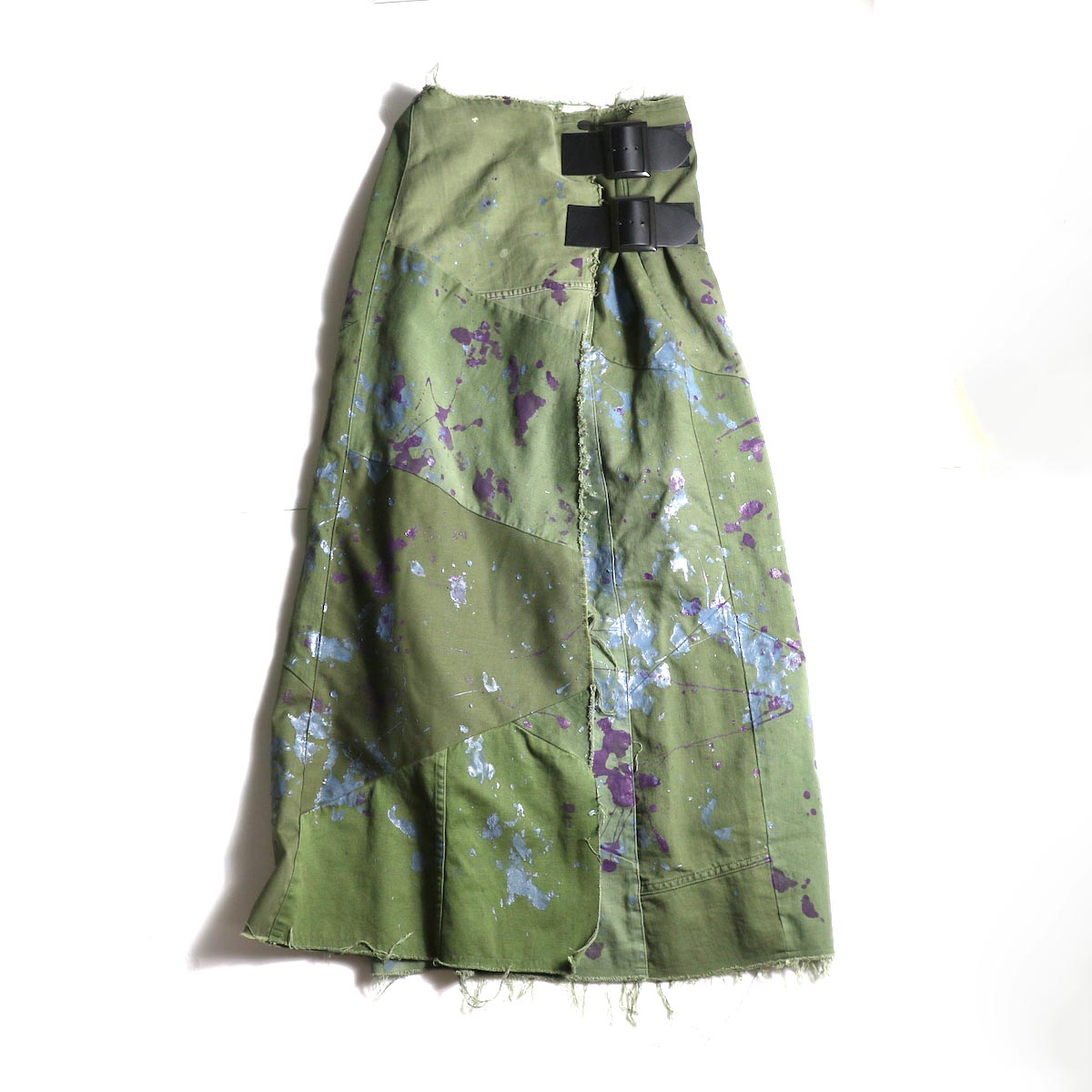 Rebuild by Needles / T/C Fatigue Shirt/Pant Wrap Skirt/Paint (Olive)