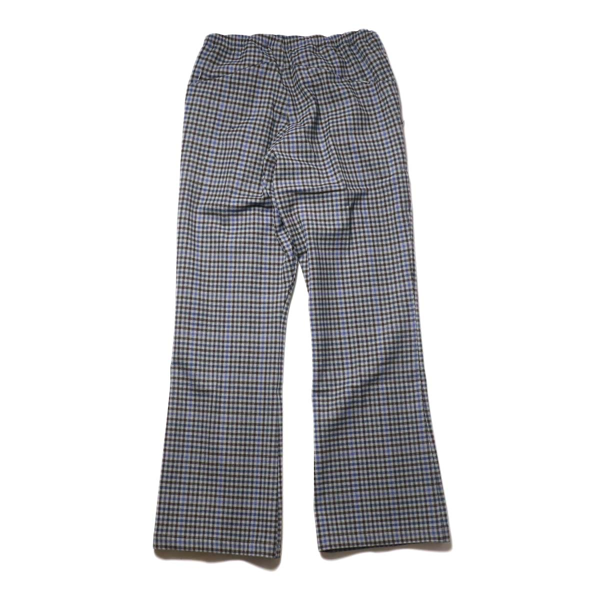 Needles / W.U. Boot-Cut Pant -Gunclub Plaid (Grey) 背面