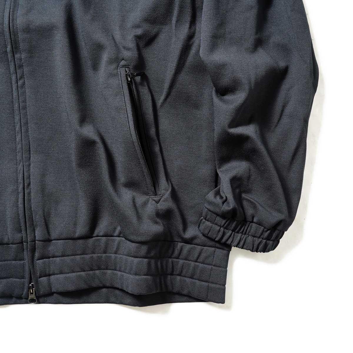 Needles / W.U. JACKET - POLY TWILL JERSEY (Black)袖、裾