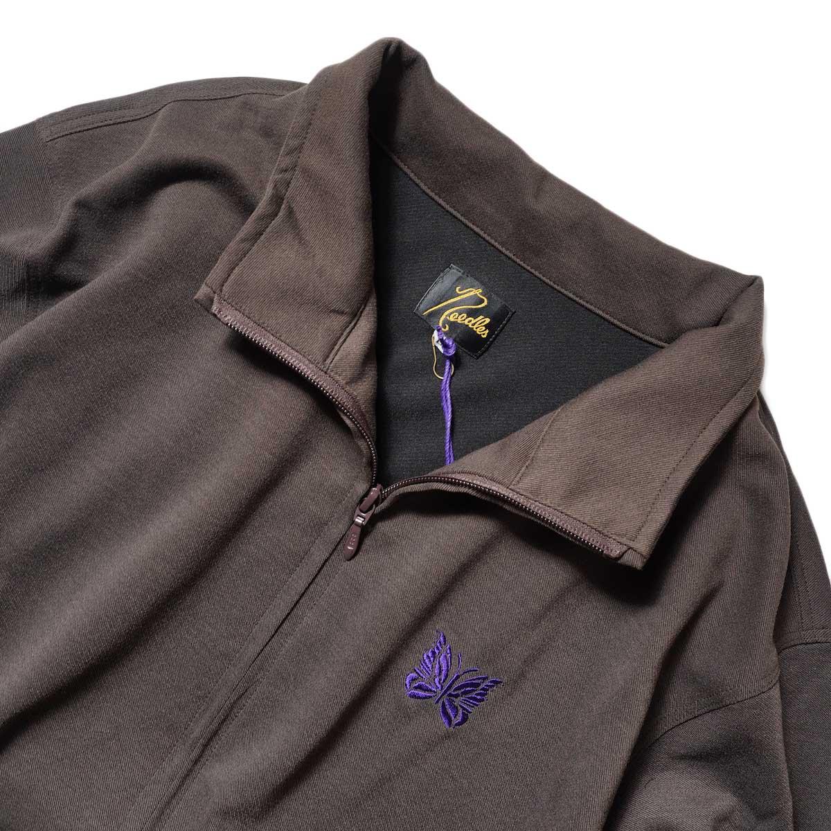 Needles / W.U. JACKET - POLY TWILL JERSEY (Brown)襟