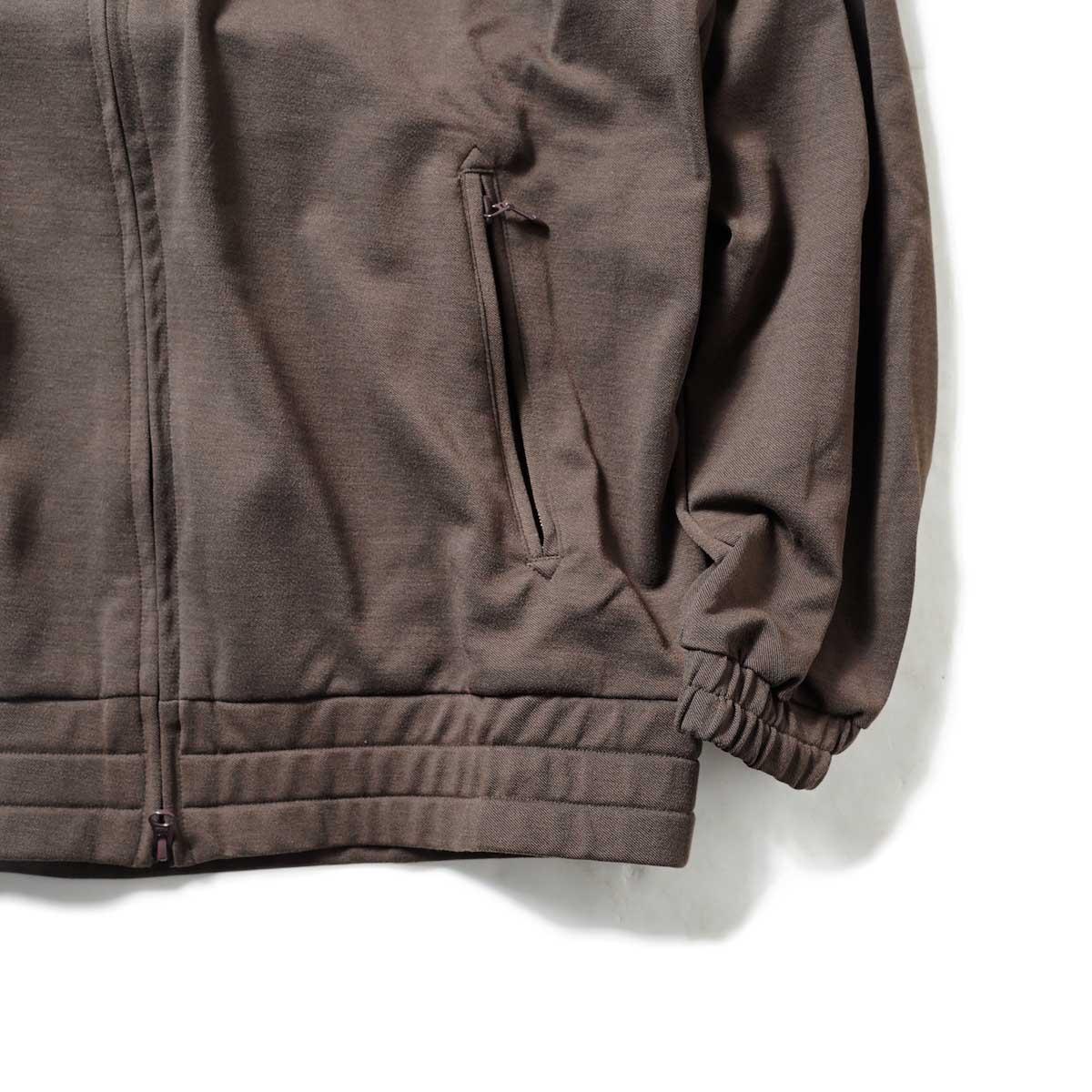 Needles / W.U. JACKET - POLY TWILL JERSEY (Brown)袖、裾