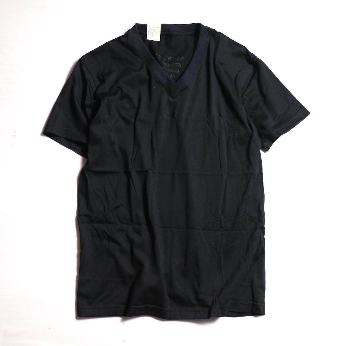 N.HOOLYWOOD T.P.E.S. BARRACKS KIT /  17-6225 V NECK T-SHIRT -BLACK