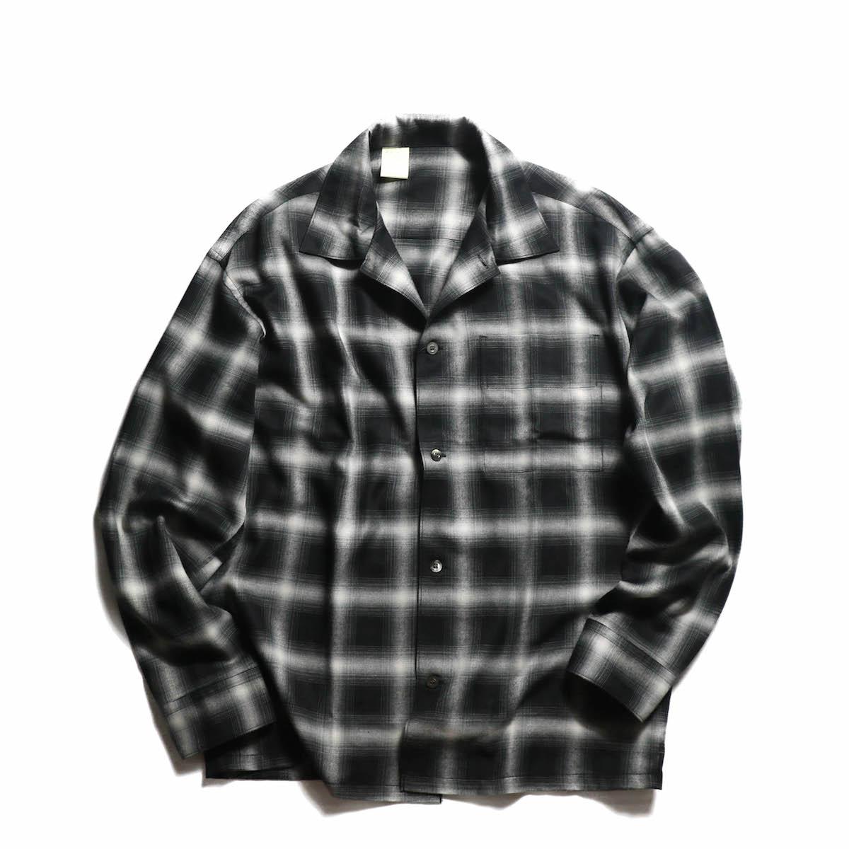 N.HOOLYWOOD / 181-SH05004 OMBRE CHECK SHIRT -BLACK CHECK