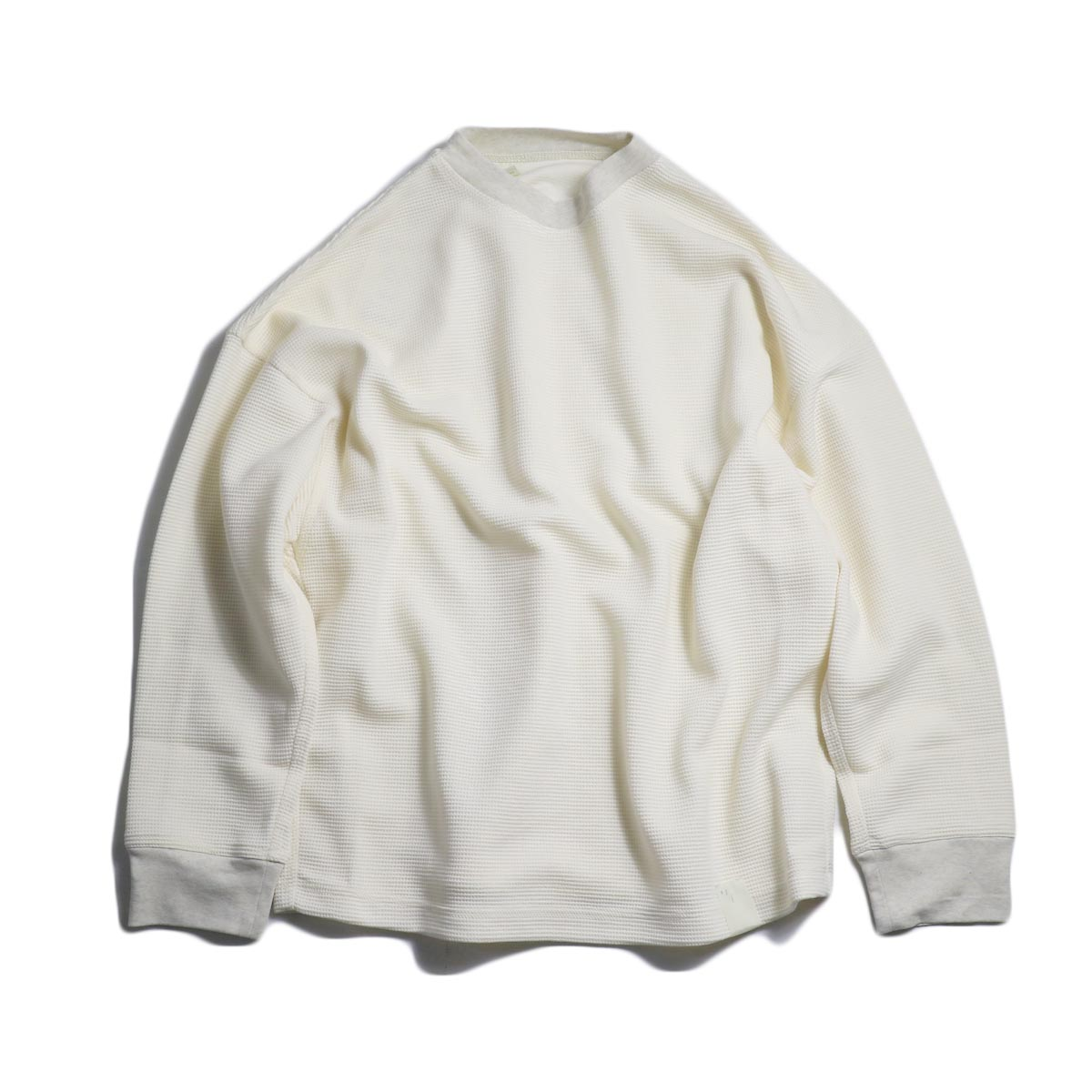 N.HOOLYWOOD / 182-CS07-013-pieces WAFFLE SWEAT CUT SEW -Ivory