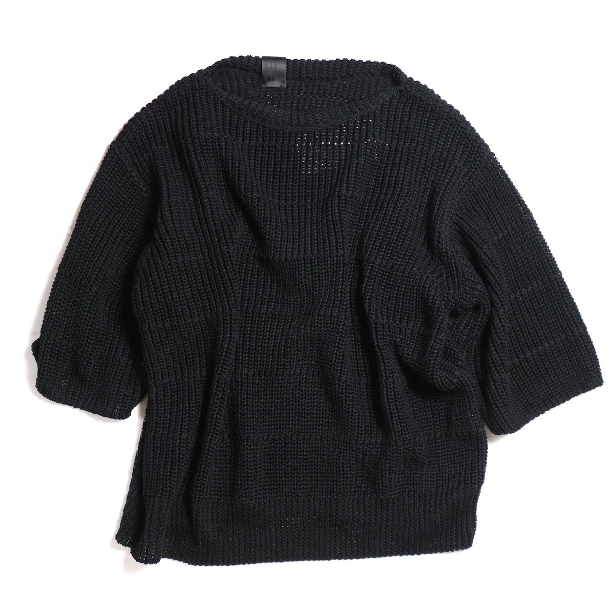 N.HOOLYWOOD / 281-KT02-027 S/S SUMMER KNIT -BLACK