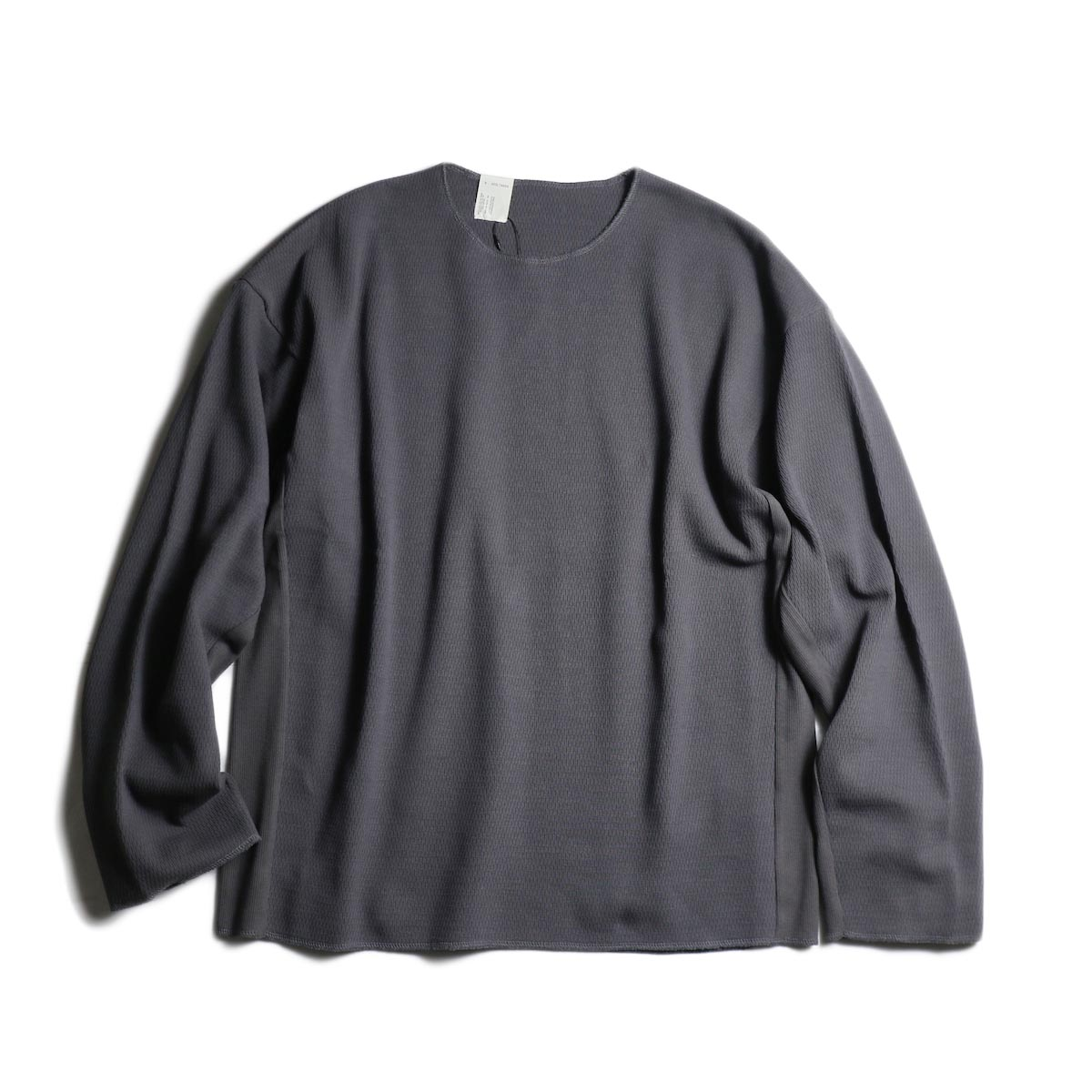 N.HOOLYWOOD / 1201-CS19-057 Thermal Long Sleeve T-Shirts (Charcoal)