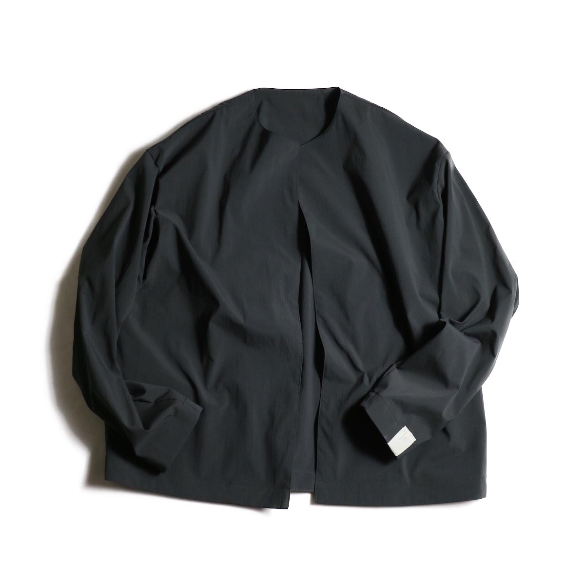 N.HOOLYWOOD / 1202-BL03-007 Collarless Jacket (Charcoal)