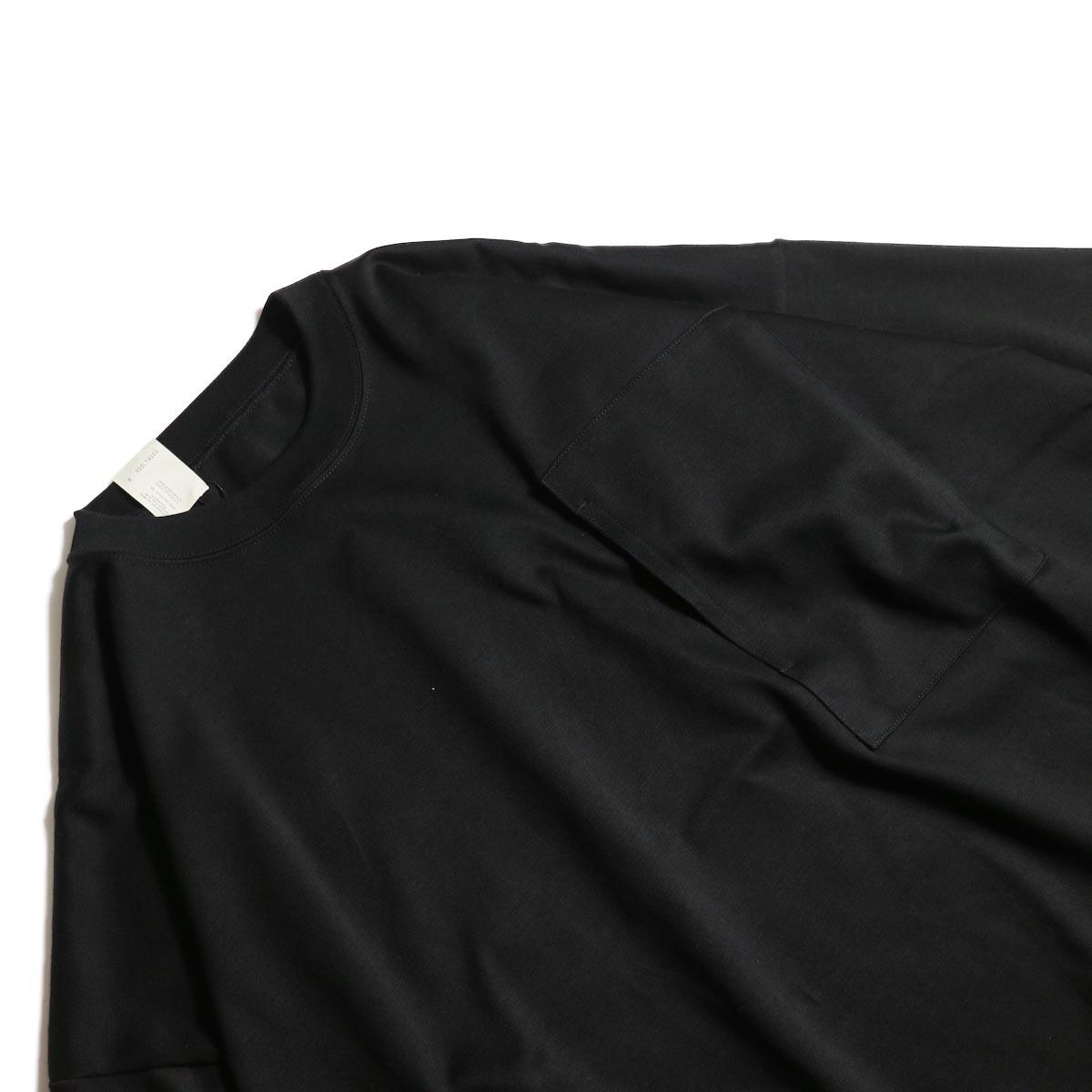 N.HOOLYWOOD / 1202-CS13-034 Big Tee (Black)首周り、ポケット