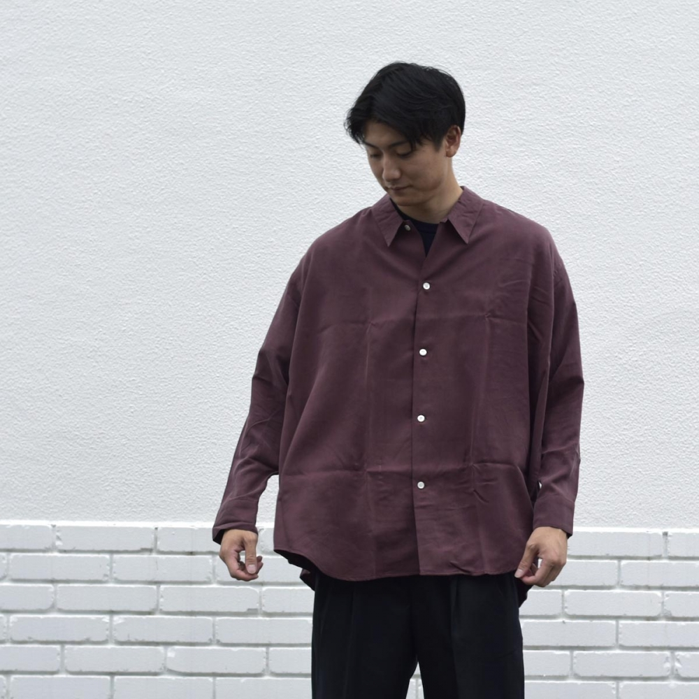 N.HOOLYWOOD / 1202-SH07-037 Loose Shirt (Burgundy着用例