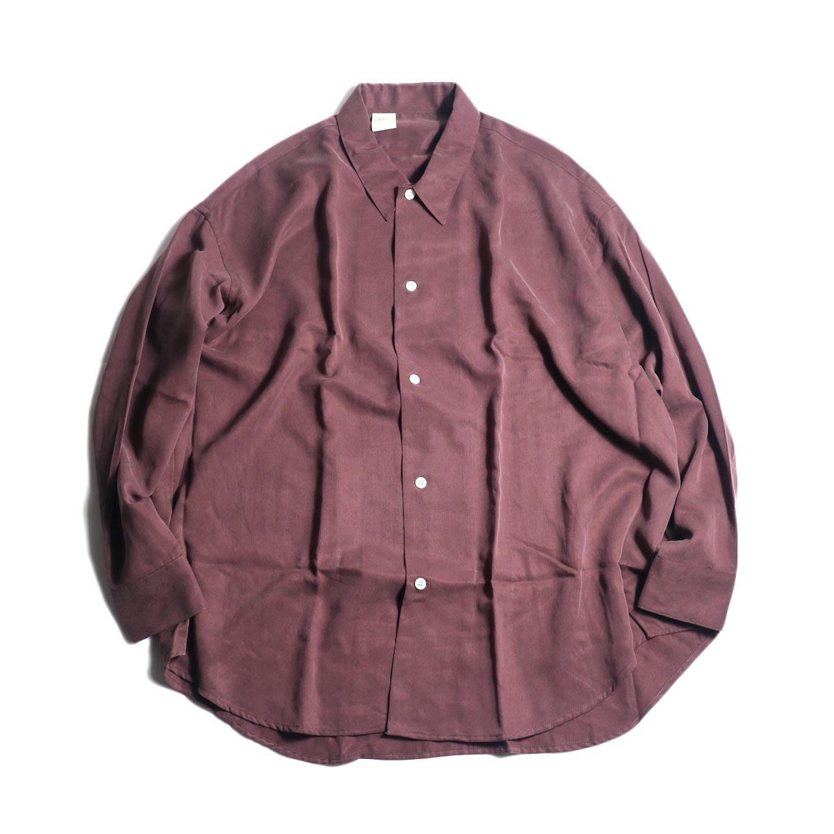 N.HOOLYWOOD / 1202-SH07-037 Loose Shirt (Burgundy)正面