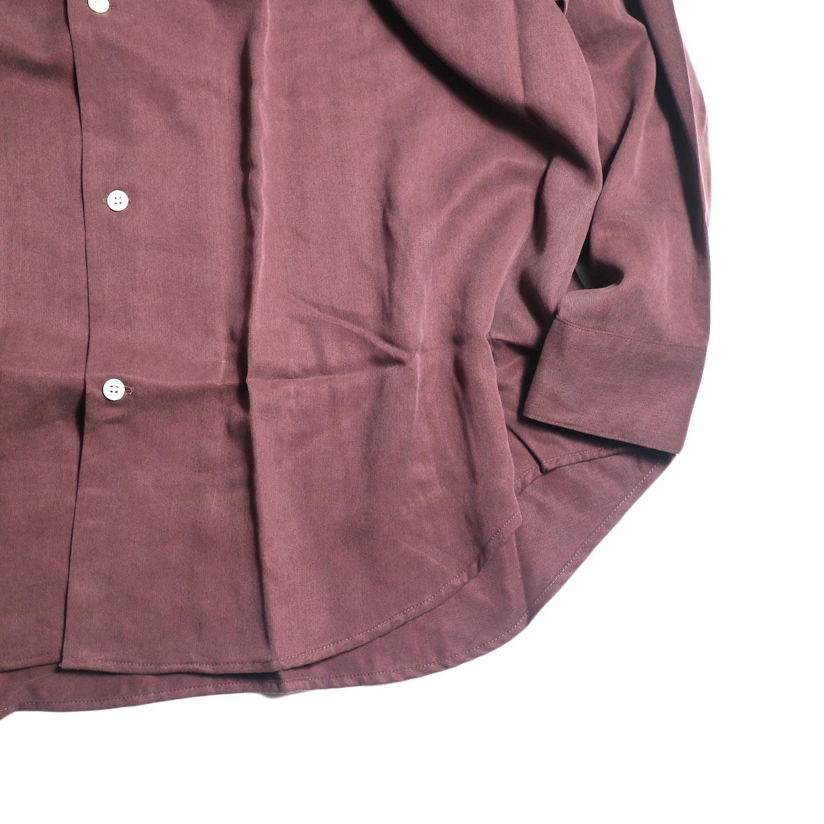 N.HOOLYWOOD / 1202-SH07-037 Loose Shirt (Burgundy袖、裾