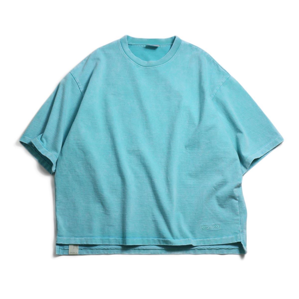 N.HOOLYWOOD × Gramicci  / 191-CS27-024 Short Sleeve Tee -Turquoise 正面
