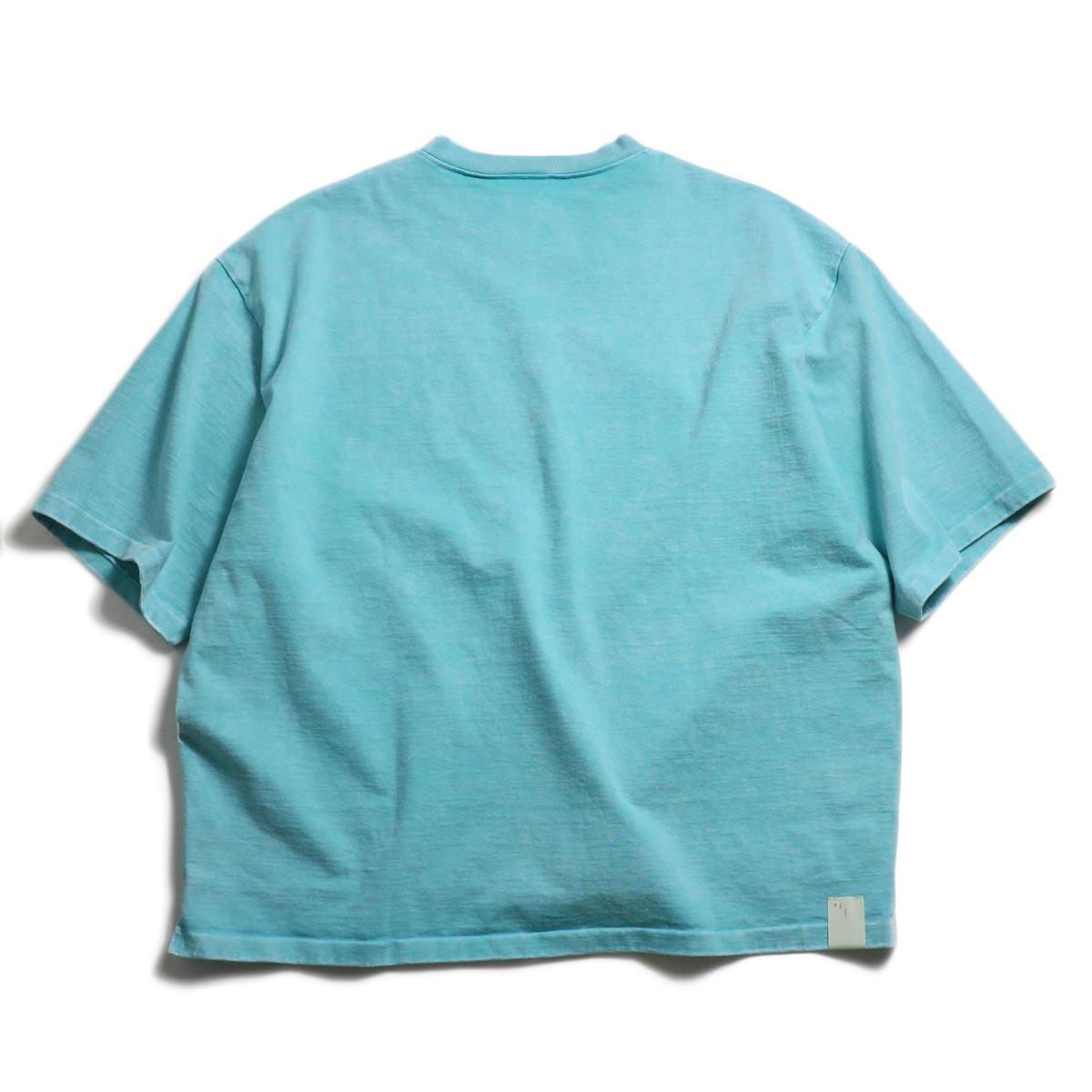 N.HOOLYWOOD × Gramicci  / 191-CS27-024 Short Sleeve Tee -Turquoise 背面