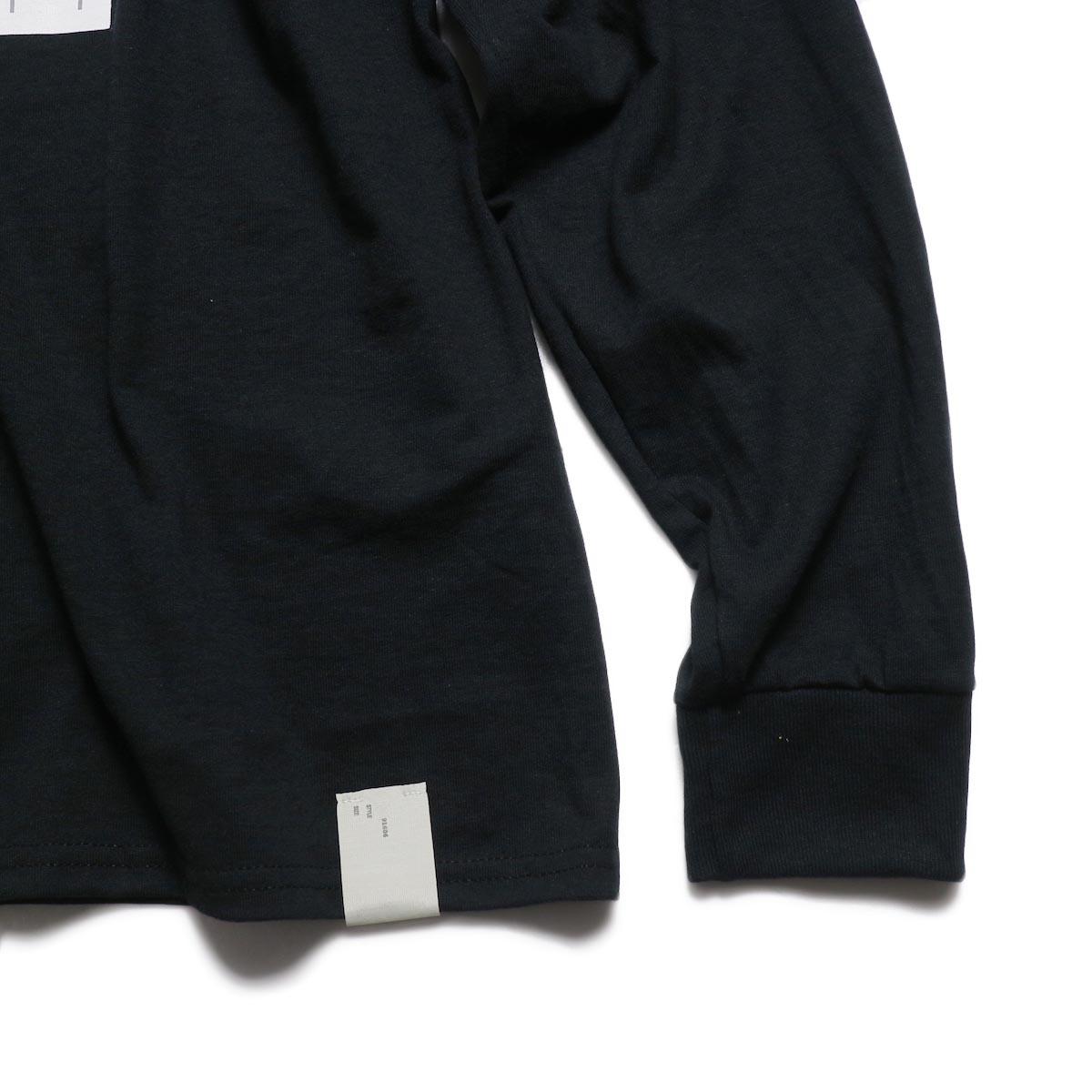 N.HOOLYWOOD × JERZEES  / 191-CS43-070 Long Sleeve Tee -Black タグ