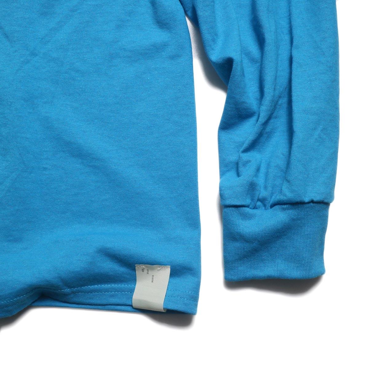 N.HOOLYWOOD × JERZEES  / 191-CS43-070 Long Sleeve Tee -Blue タグ