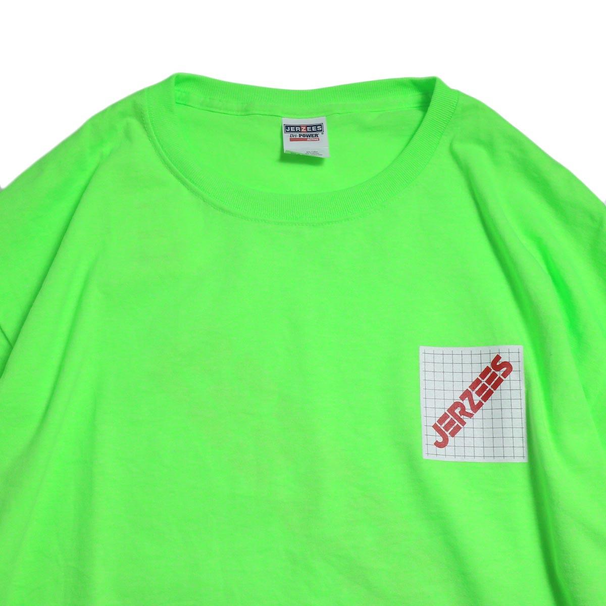 N.HOOLYWOOD × JERZEES  / 191-CS43-070 Long Sleeve Tee -Green 襟