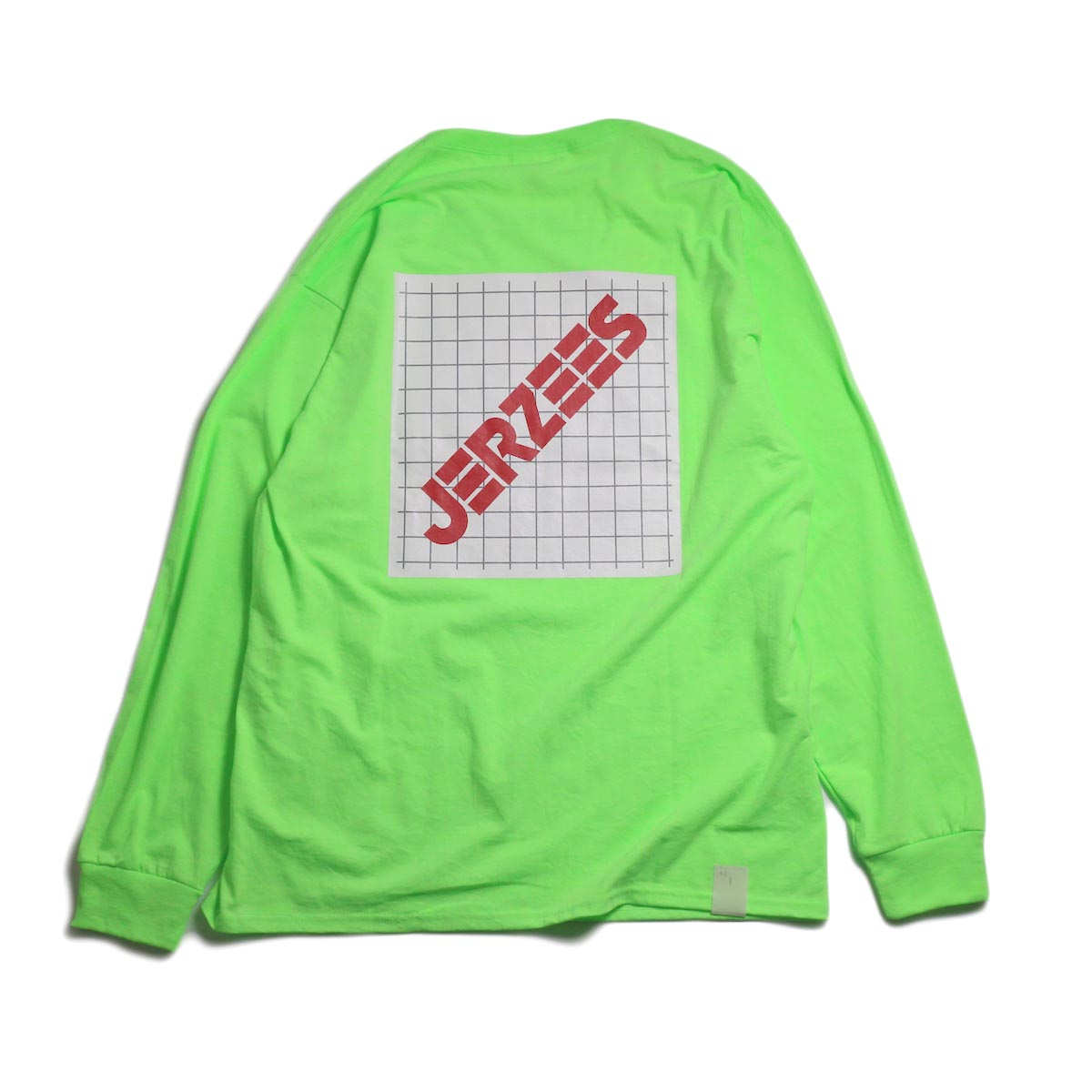 N.HOOLYWOOD × JERZEES  / 191-CS43-070 Long Sleeve Tee -Green 背面
