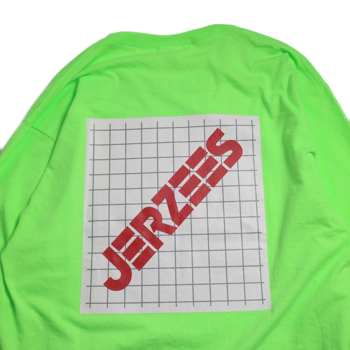 N.HOOLYWOOD × JERZEES  / 191-CS43-070 Long Sleeve Tee -Green バックプリント
