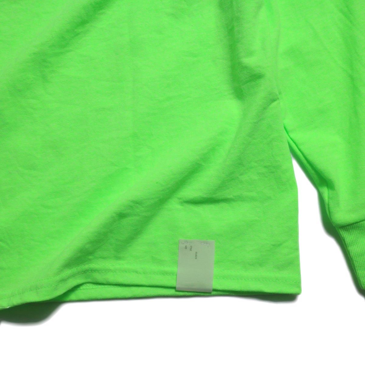 N.HOOLYWOOD × JERZEES  / 191-CS43-070 Long Sleeve Tee -Green タグ