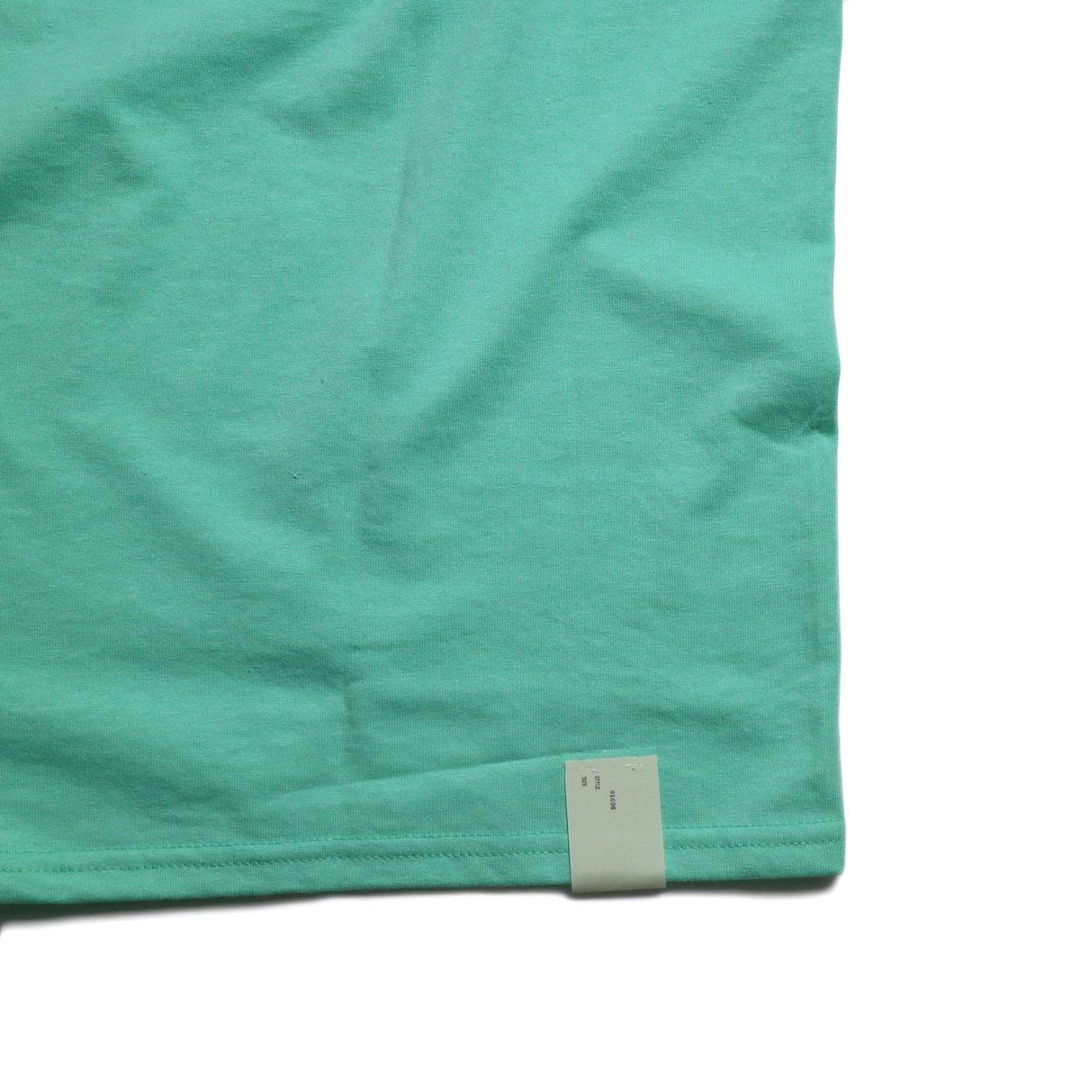 N.HOOLYWOOD × JERZEES  / 191-CS44-070 Short Sleeve Tee -Mint タグ