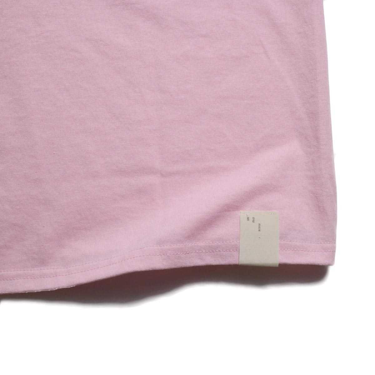 N.HOOLYWOOD × JERZEES  / 191-CS44-070 Short Sleeve Tee -Pink タグ