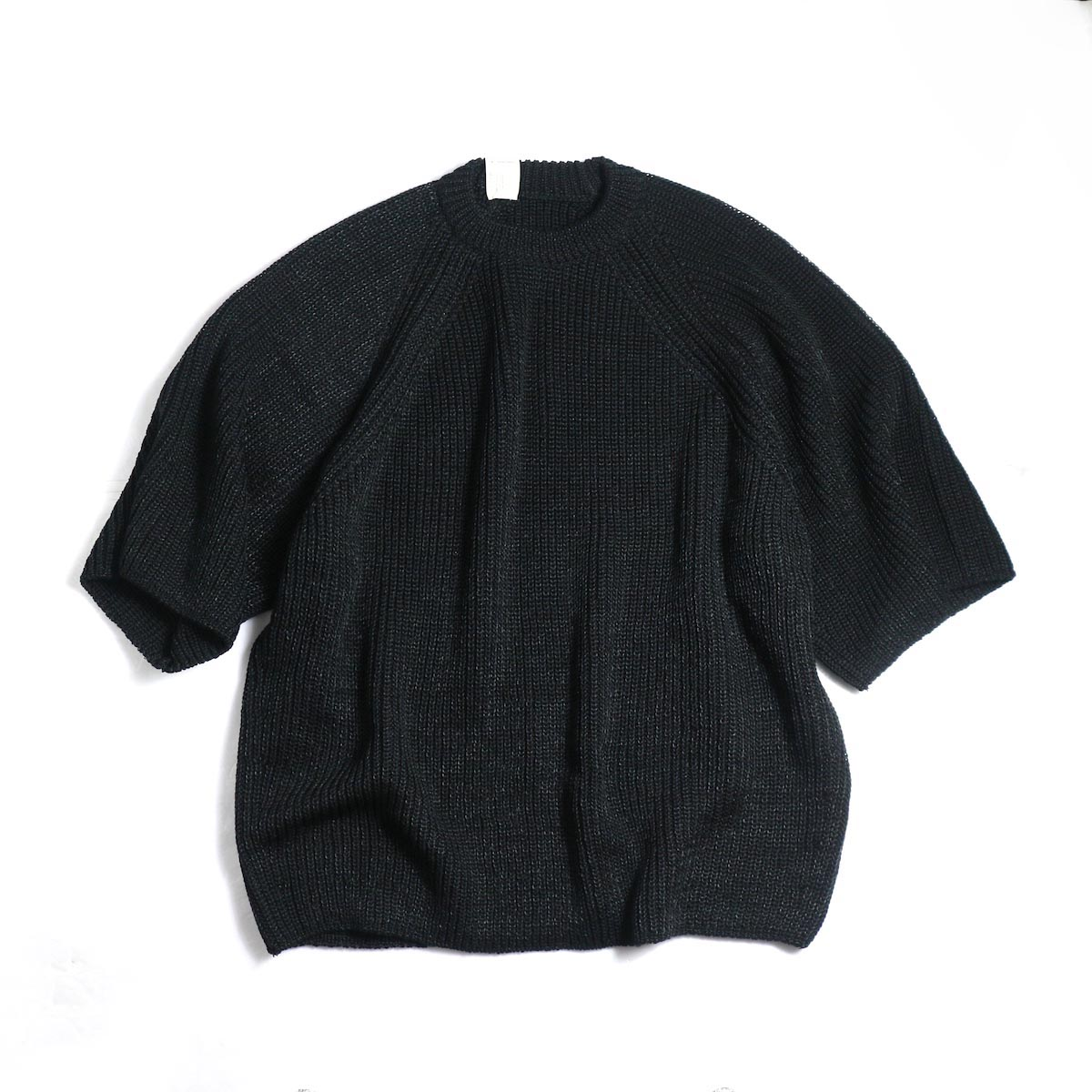 N.HOOLYWOOD / 191-KT05-063pieces Short Sleeve Knit -Black