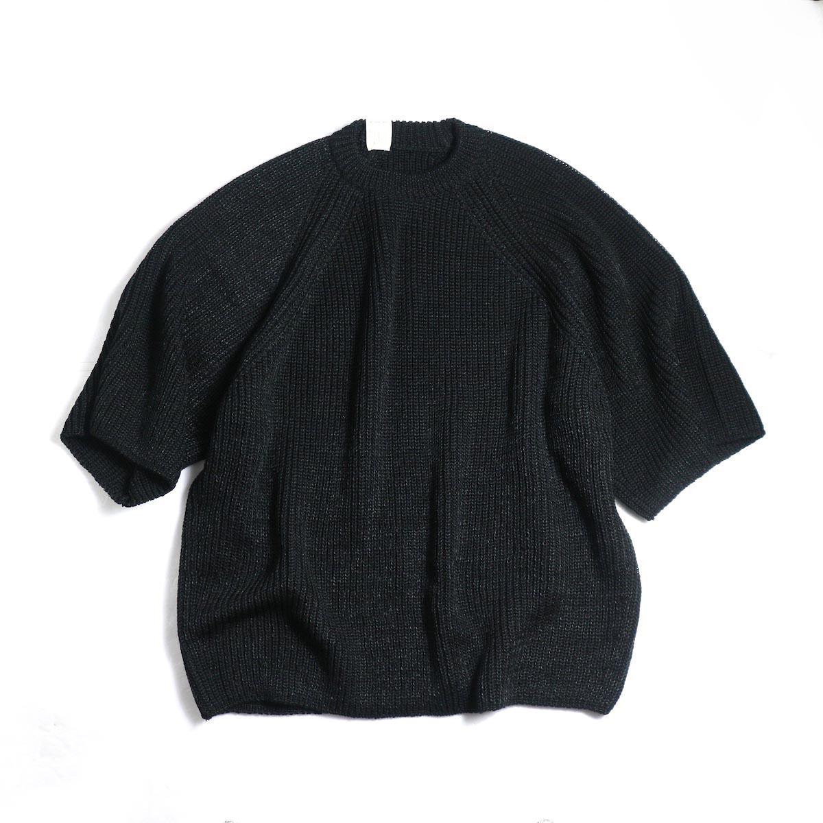 N.HOOLYWOOD / 191-KT05-063pieces Short Sleeve Knit -Black