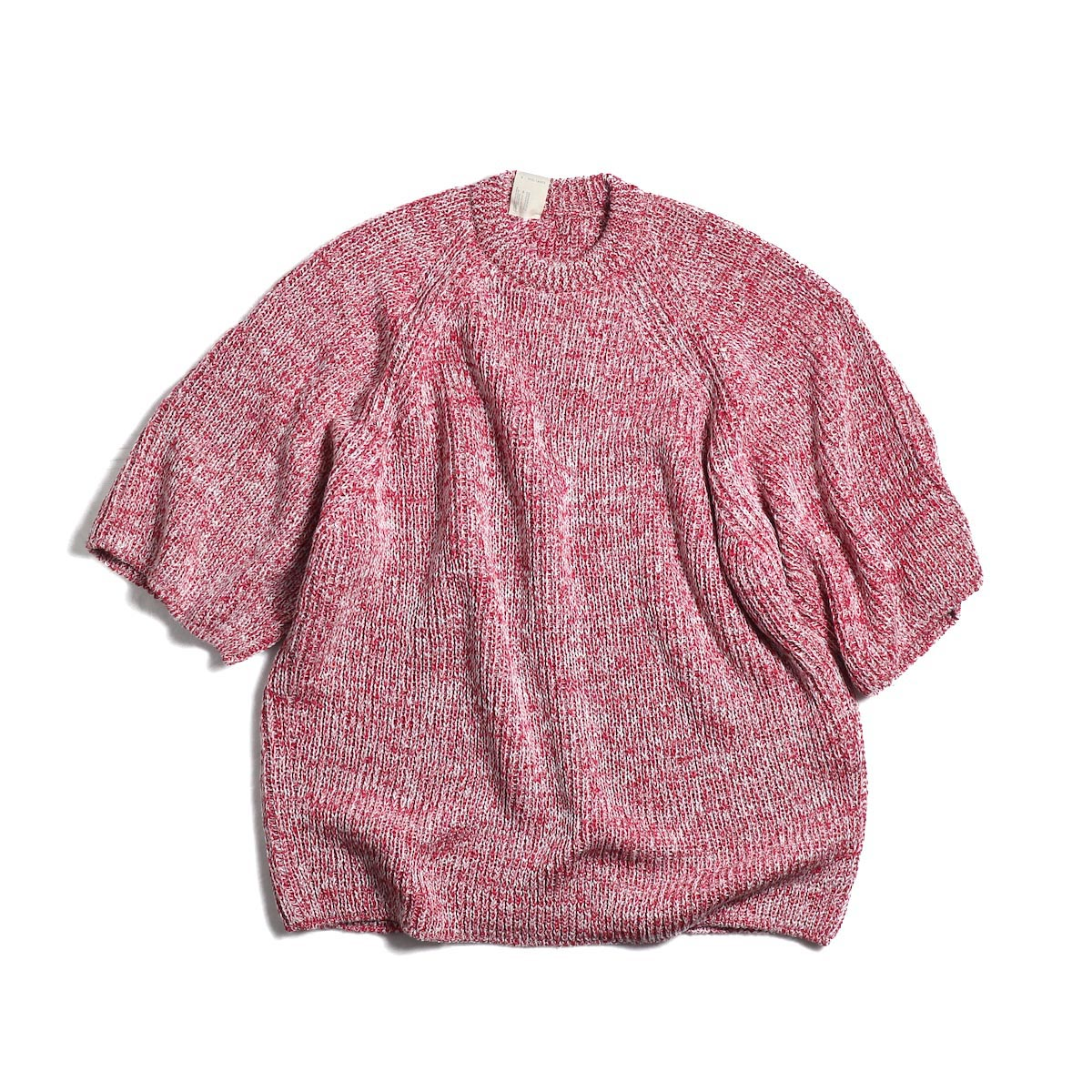 N.HOOLYWOOD / 191-KT05-063pieces Short Sleeve Knit -Red