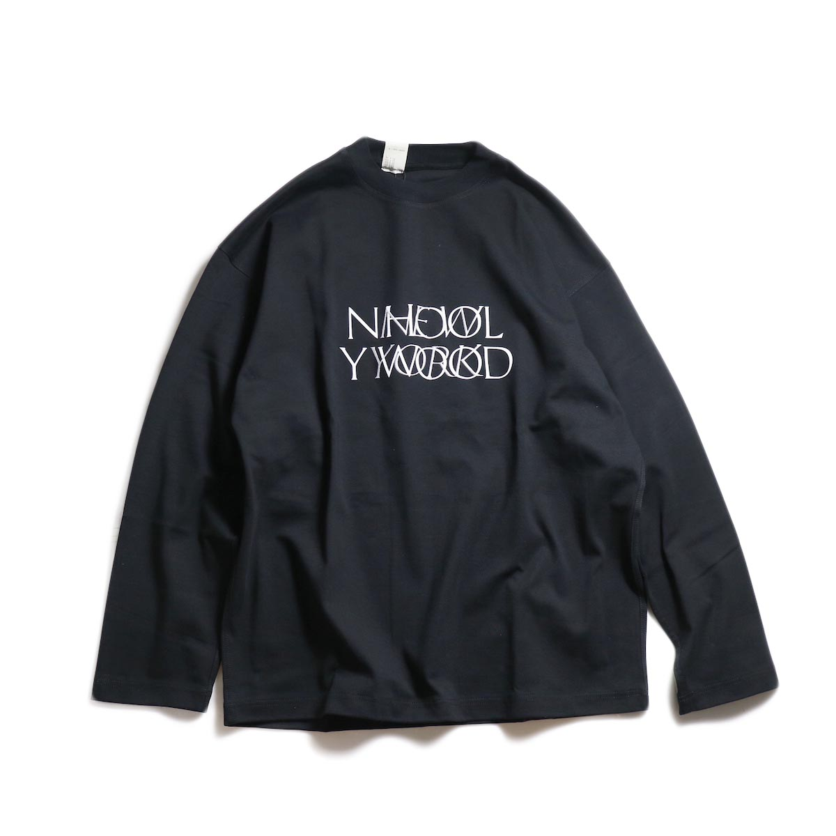 N.HOOLYWOOD / 192-CS15-025 Long Sleeve Logo T-Shirt -Black