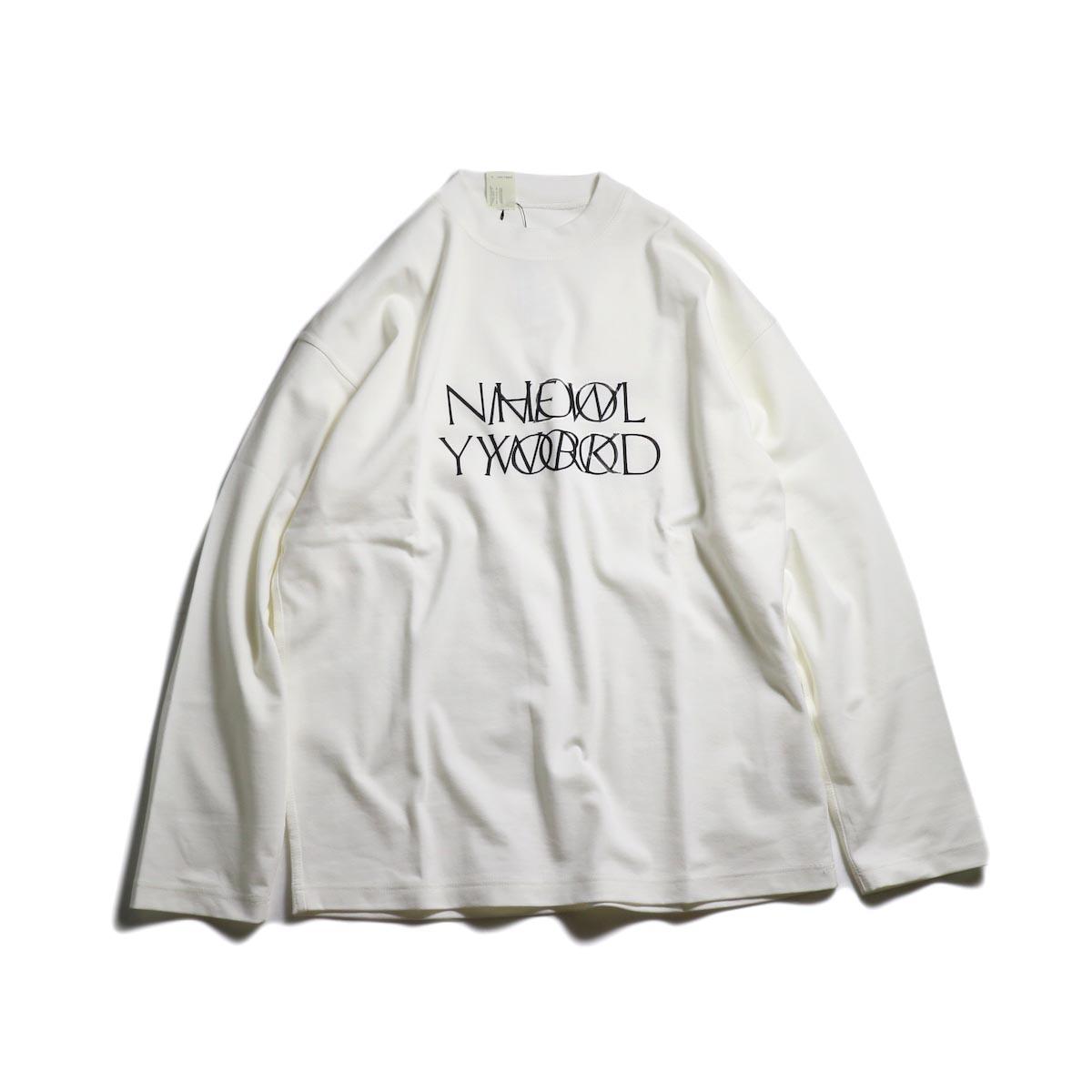 N.HOOLYWOOD / 192-CS15-025 Long Sleeve Logo T-Shirt -White