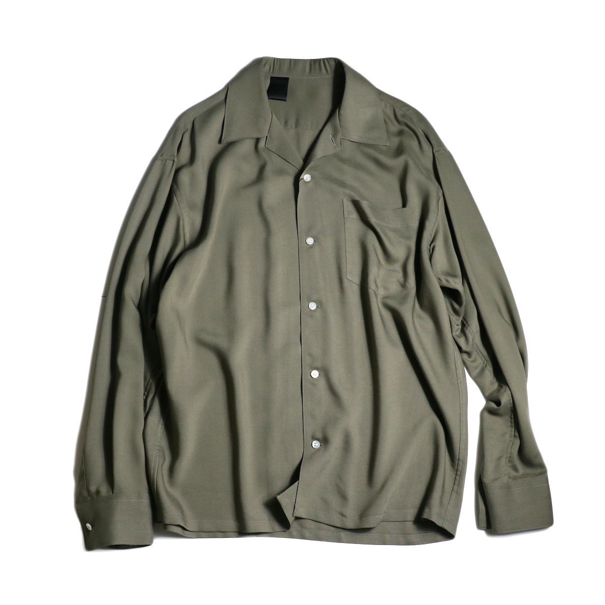N.HOOLYWOOD / 2201-SH06 Open Collar Shirt (Charcoal)