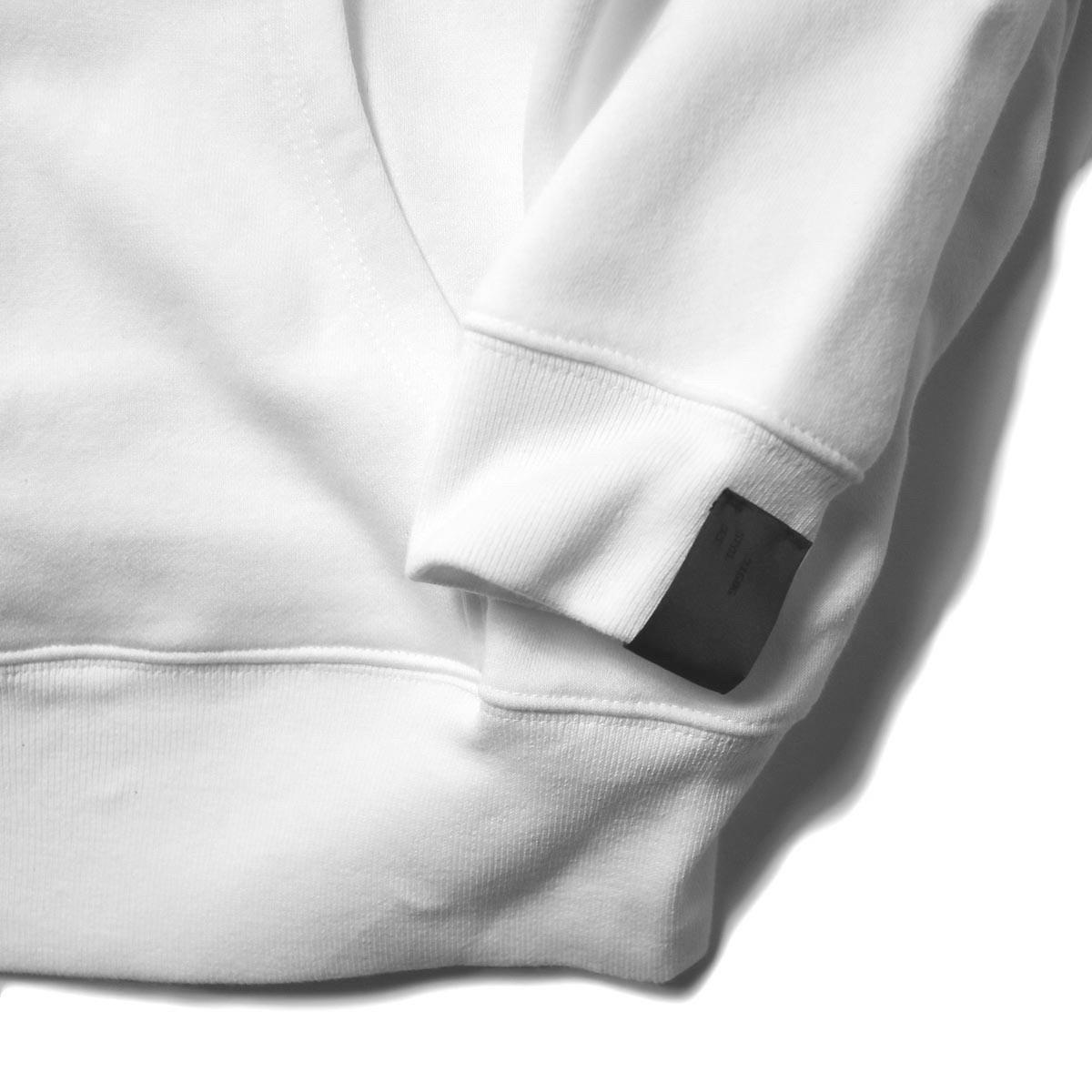 N.HOOLYWOOD / 2202-CS80-033 Sweat Hoodie (White) 袖、裾